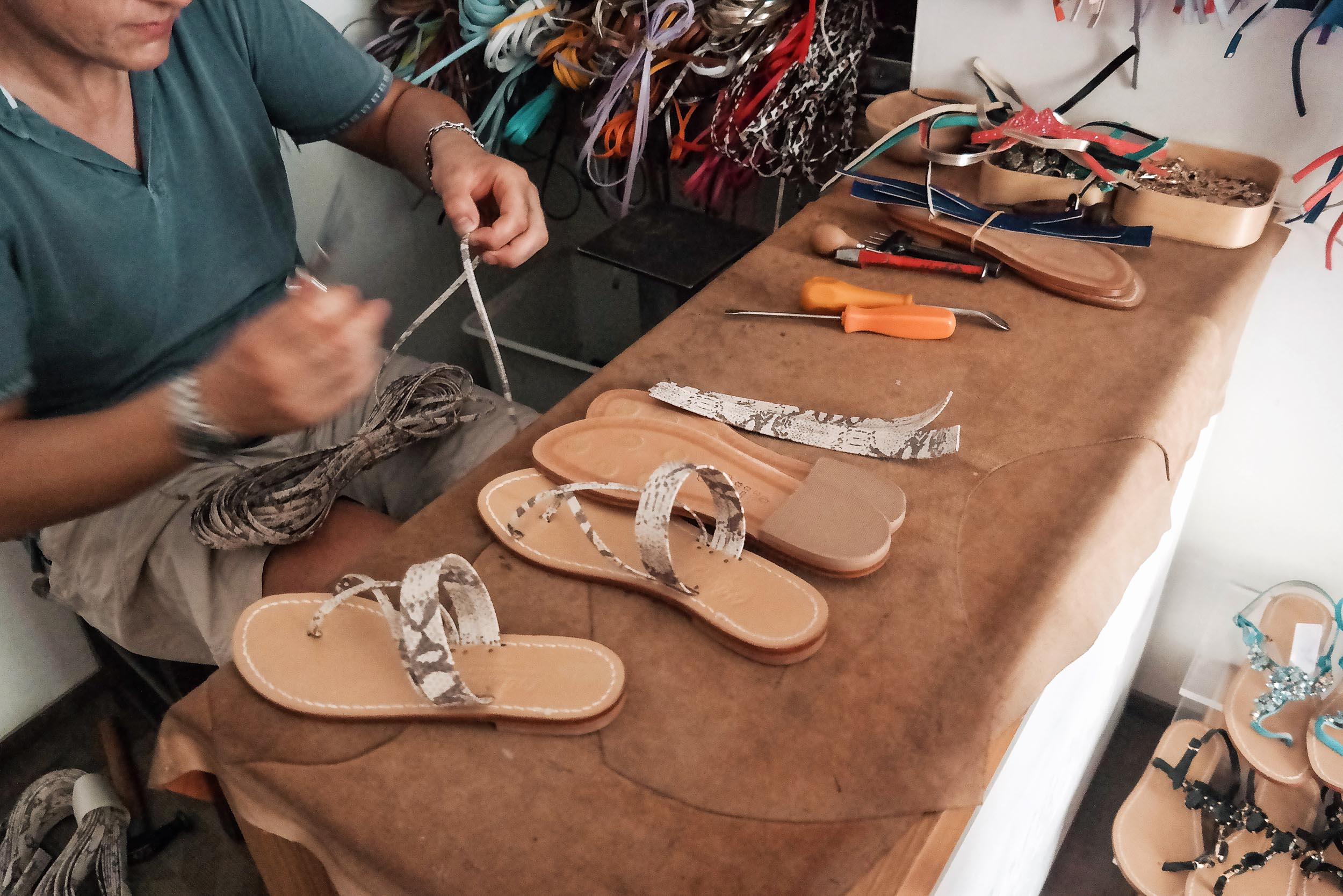 Buy local, handmade, custom sandals in Positano
