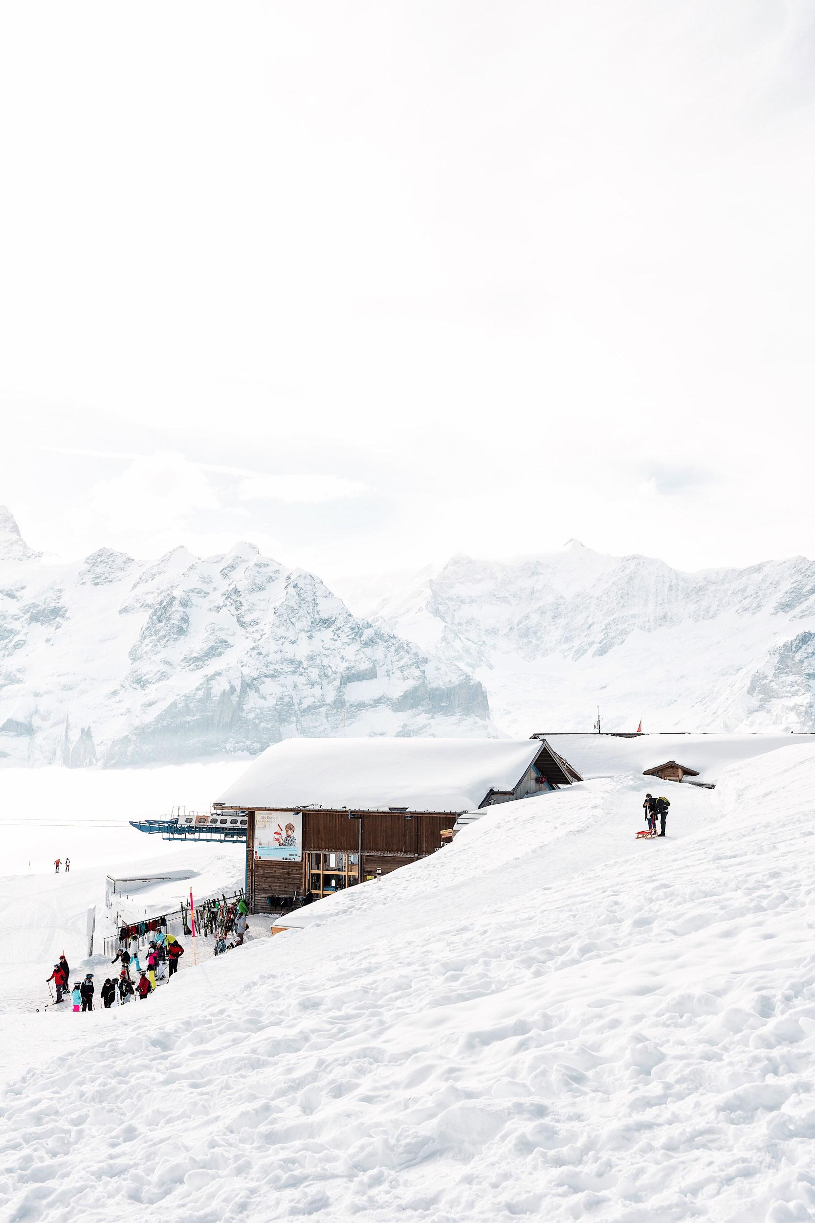The Grindelwald-First gondola station