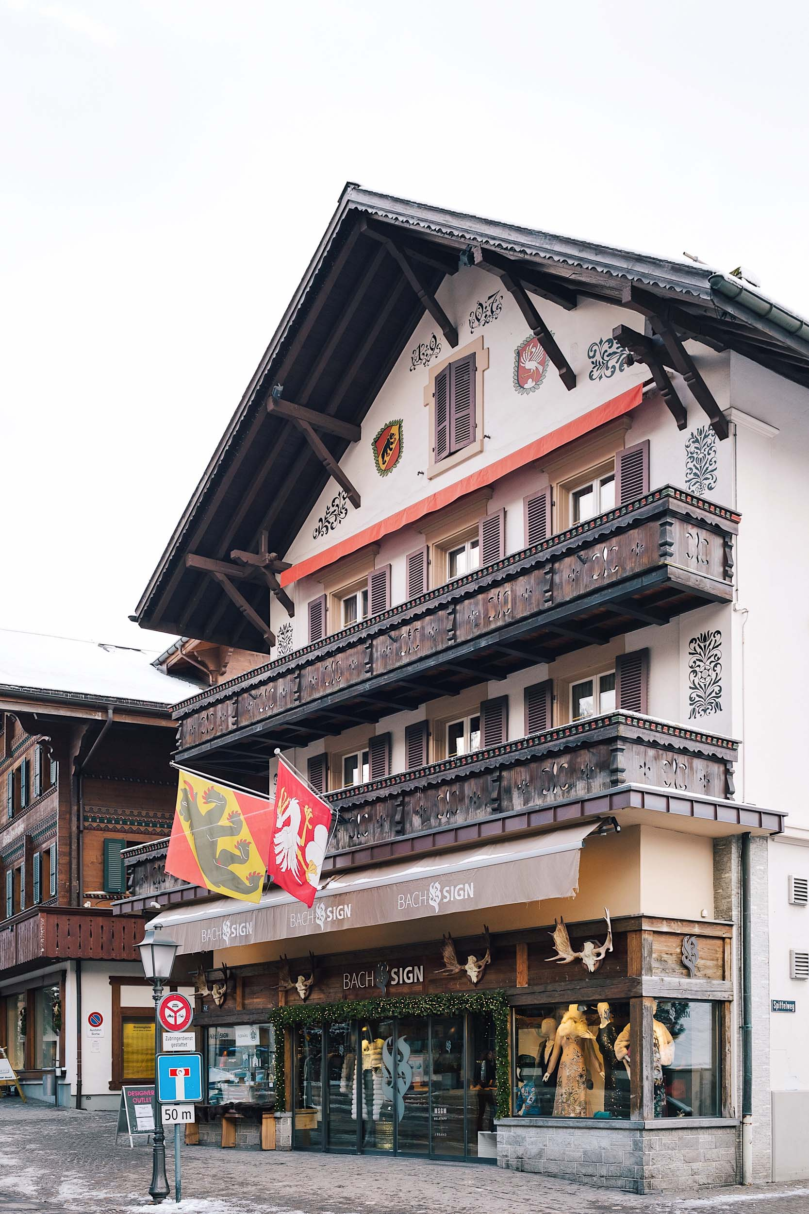 Gstaad, Switzerland is a popular destination for many, including a handful of famous celebrities like Julie Andrews, Salma Hayek, Valentino, and Elizabeth Taylor.