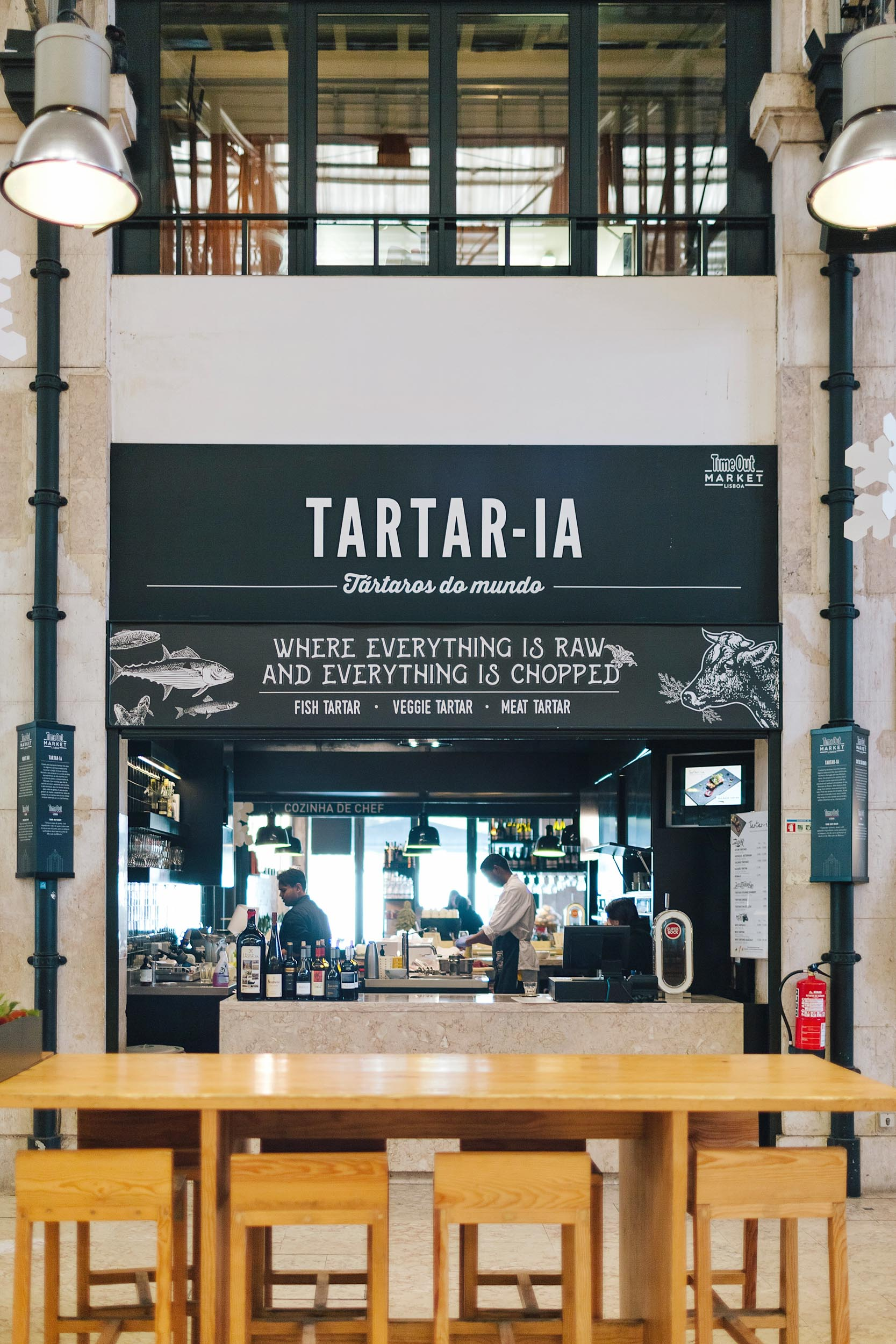 A restaurant at Time Out Market in Lisbon