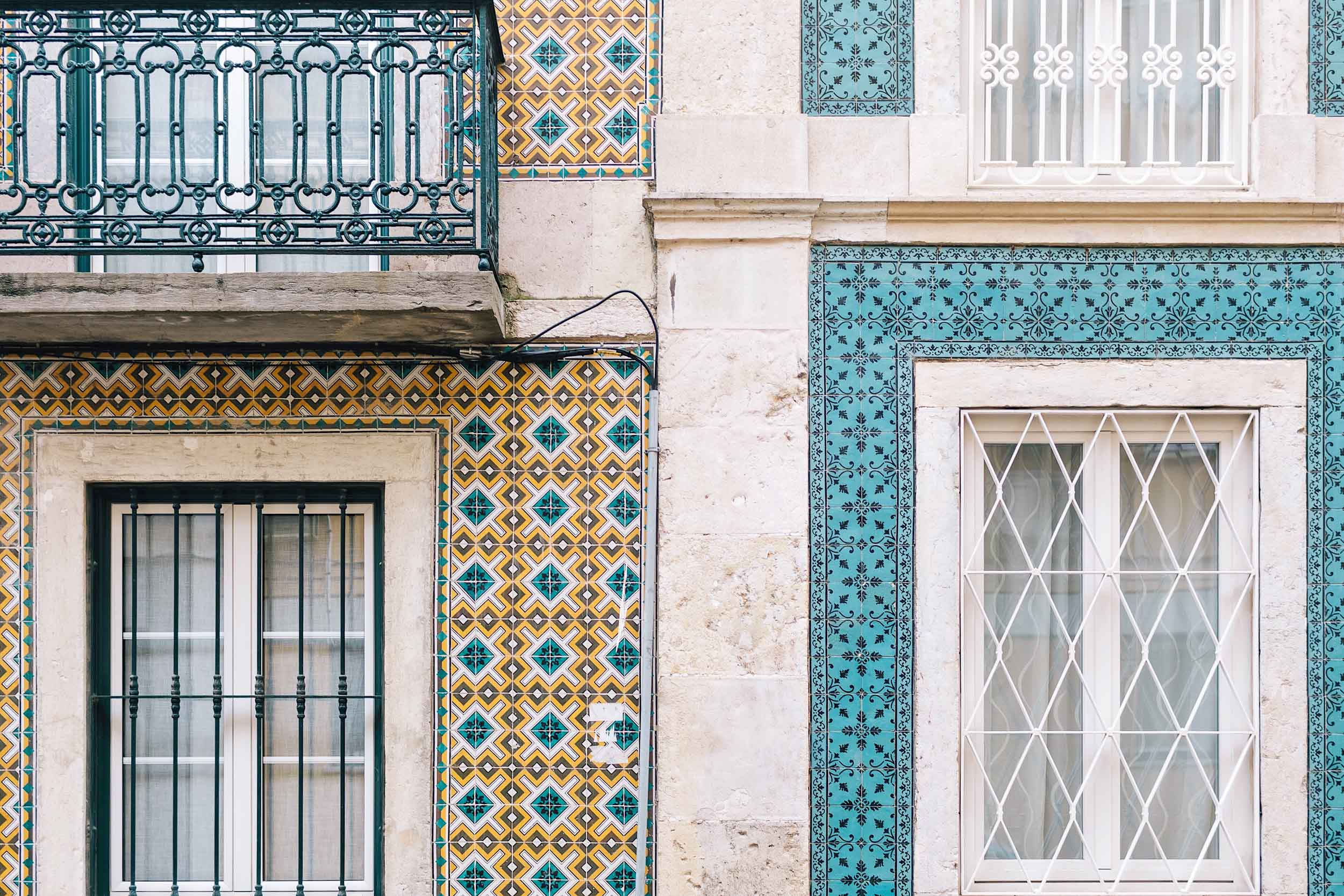 Colorful tile in Lisbon