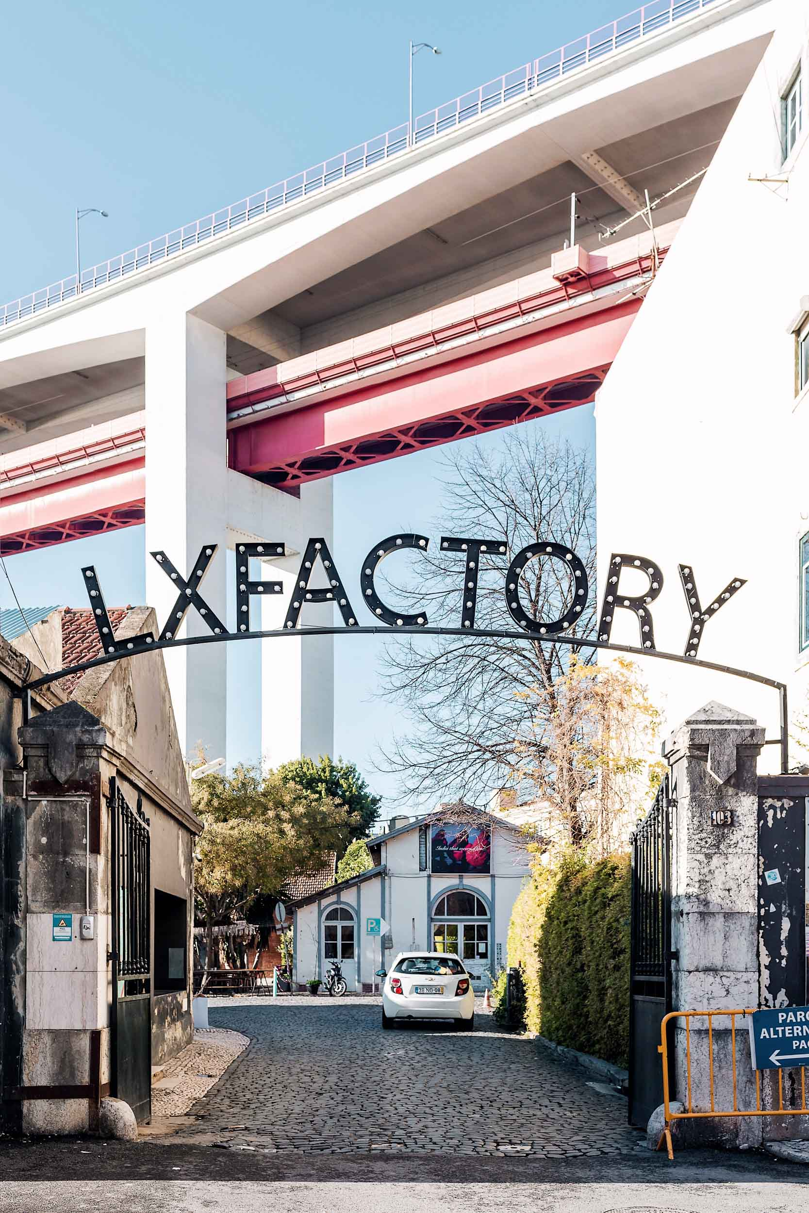 LX Factory is an art center in Lisbon, full of artsy retailers and great restaurants