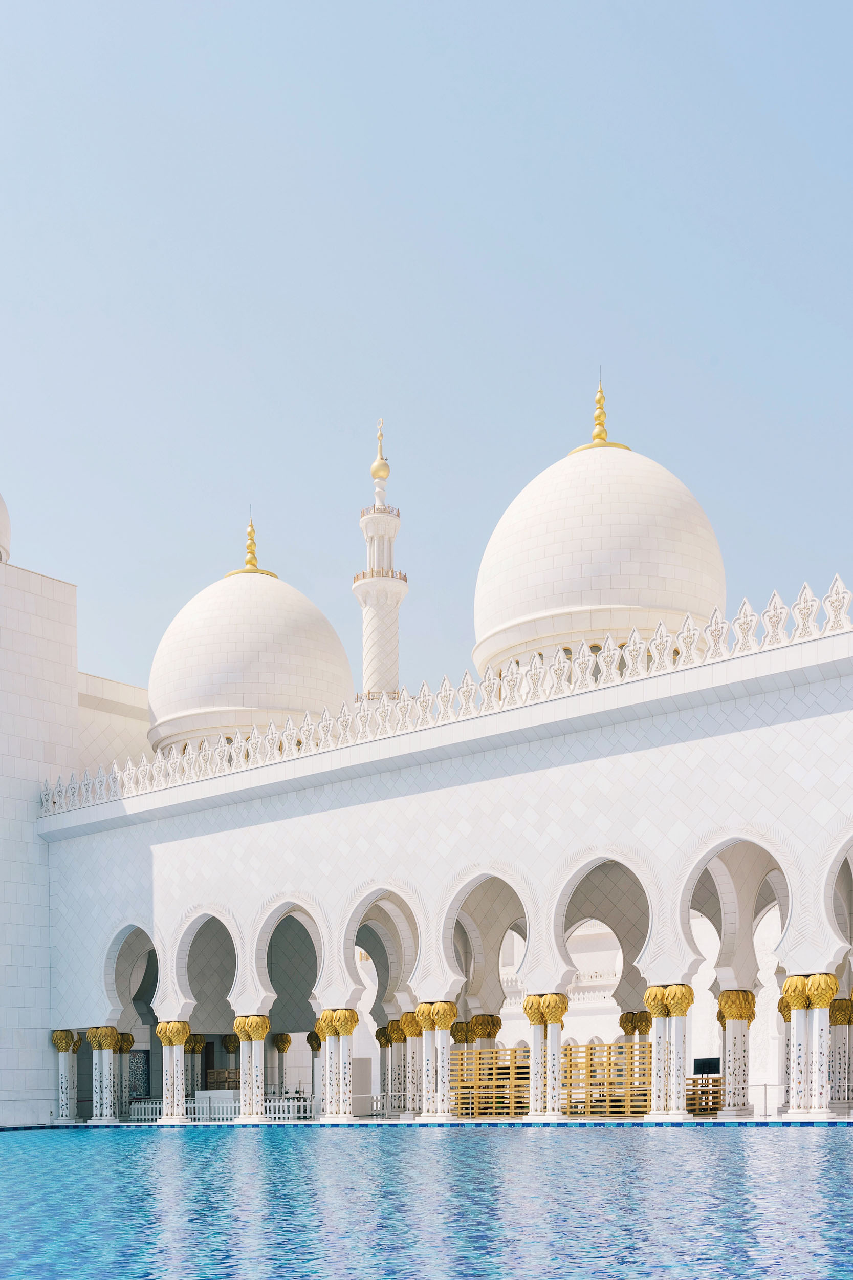 Outside the Sheikh Zayed Grand Mosque