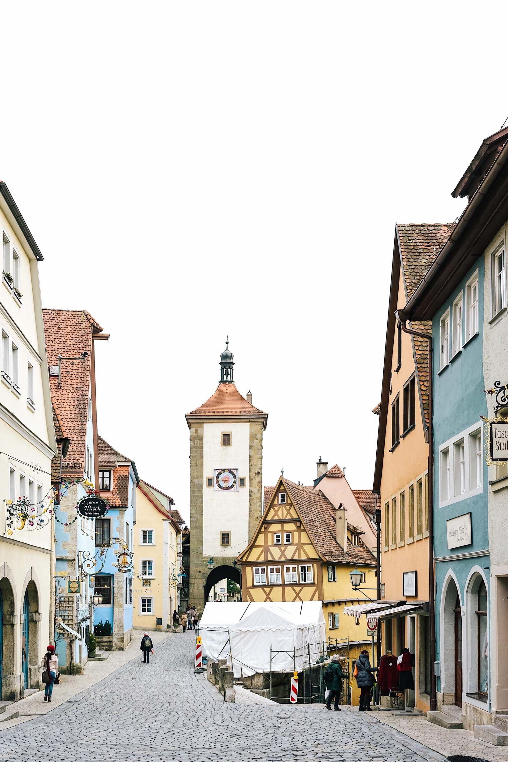 The iconic Rothenburg viewpoint