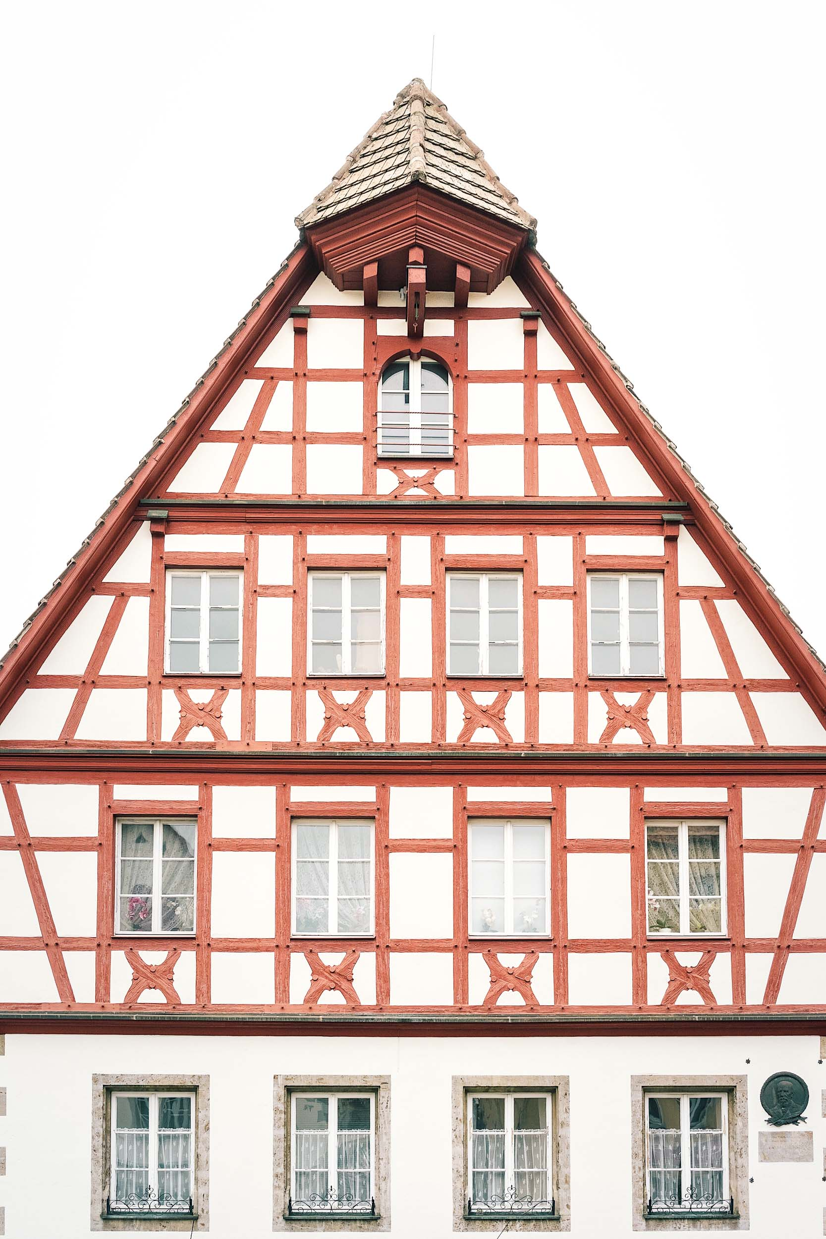 A German medieval building in Rothenburg