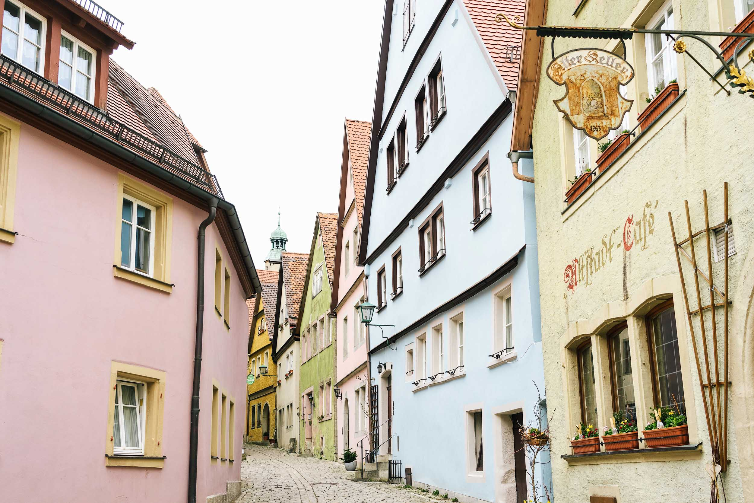 A very colorful European town: Rothenburg, Germany