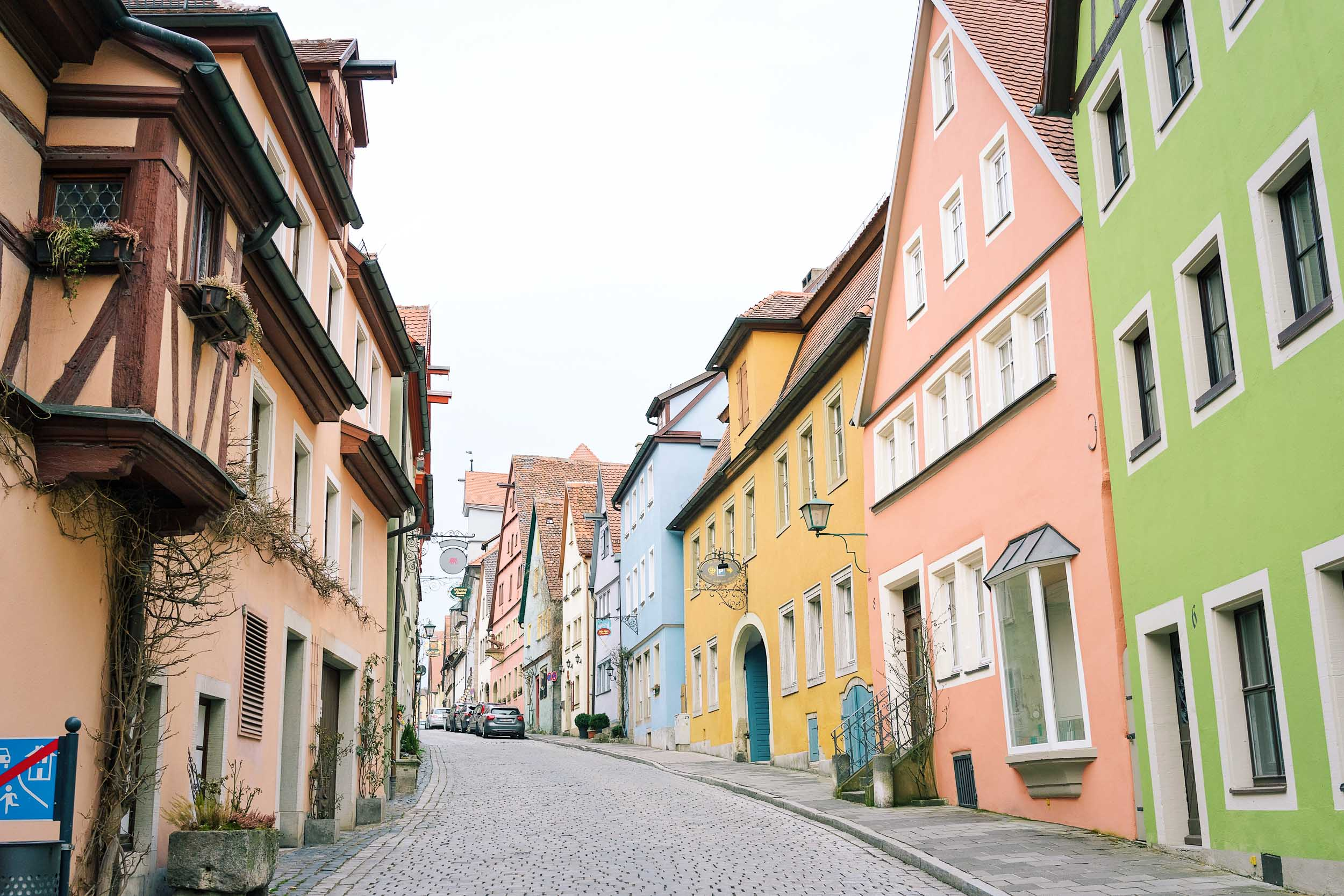 The colorful streets of Rothenburg ob der Tauber