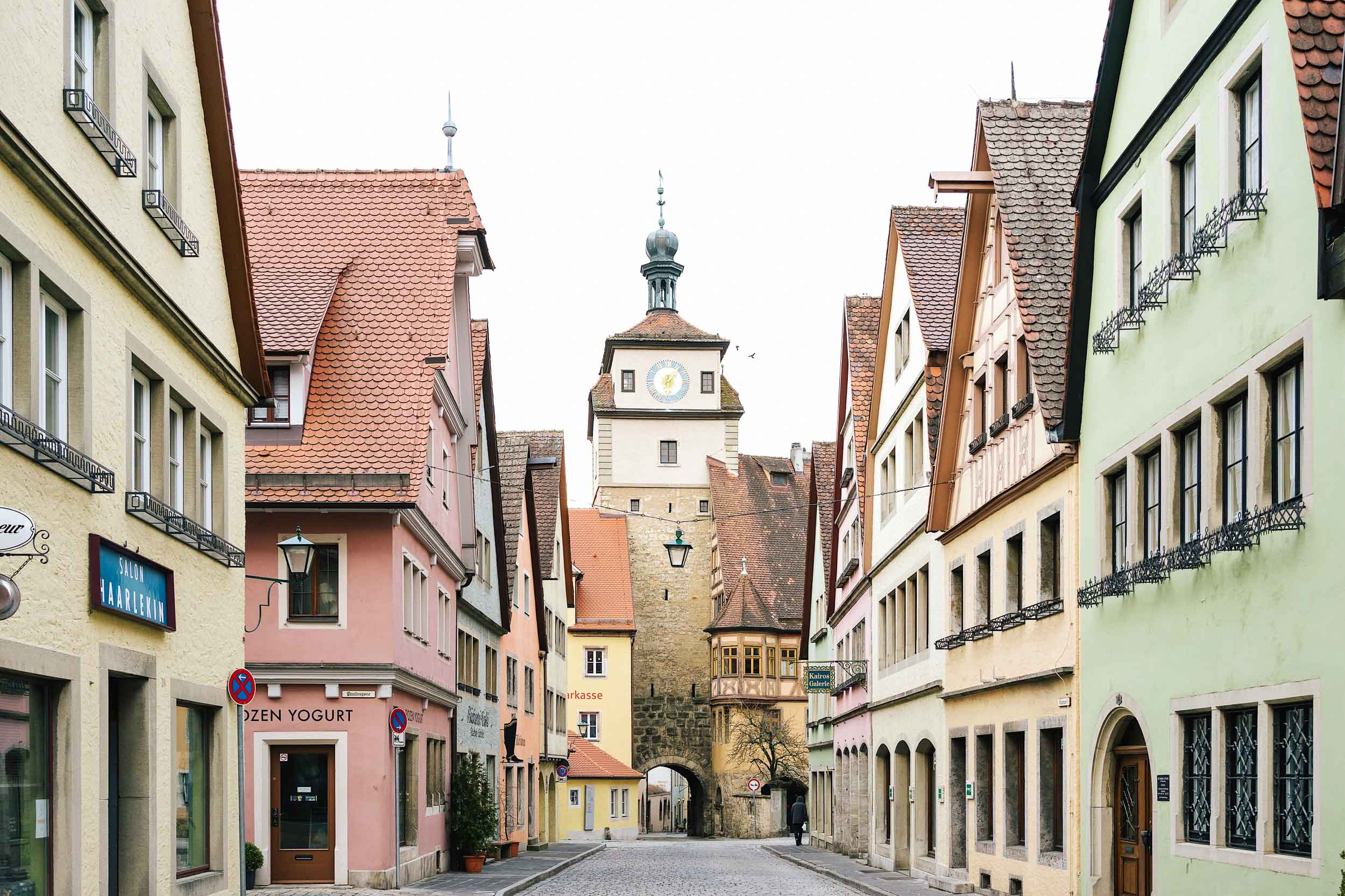 Rothenburg is a well preserved medieval town in Germany