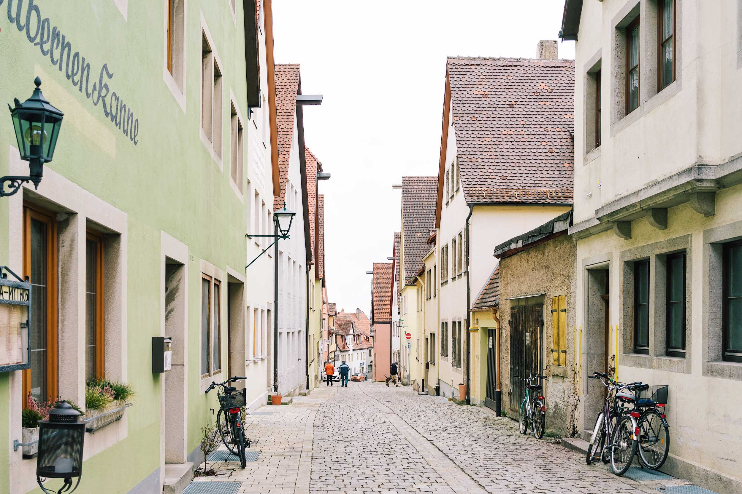 A picturesque street in Rothenburg