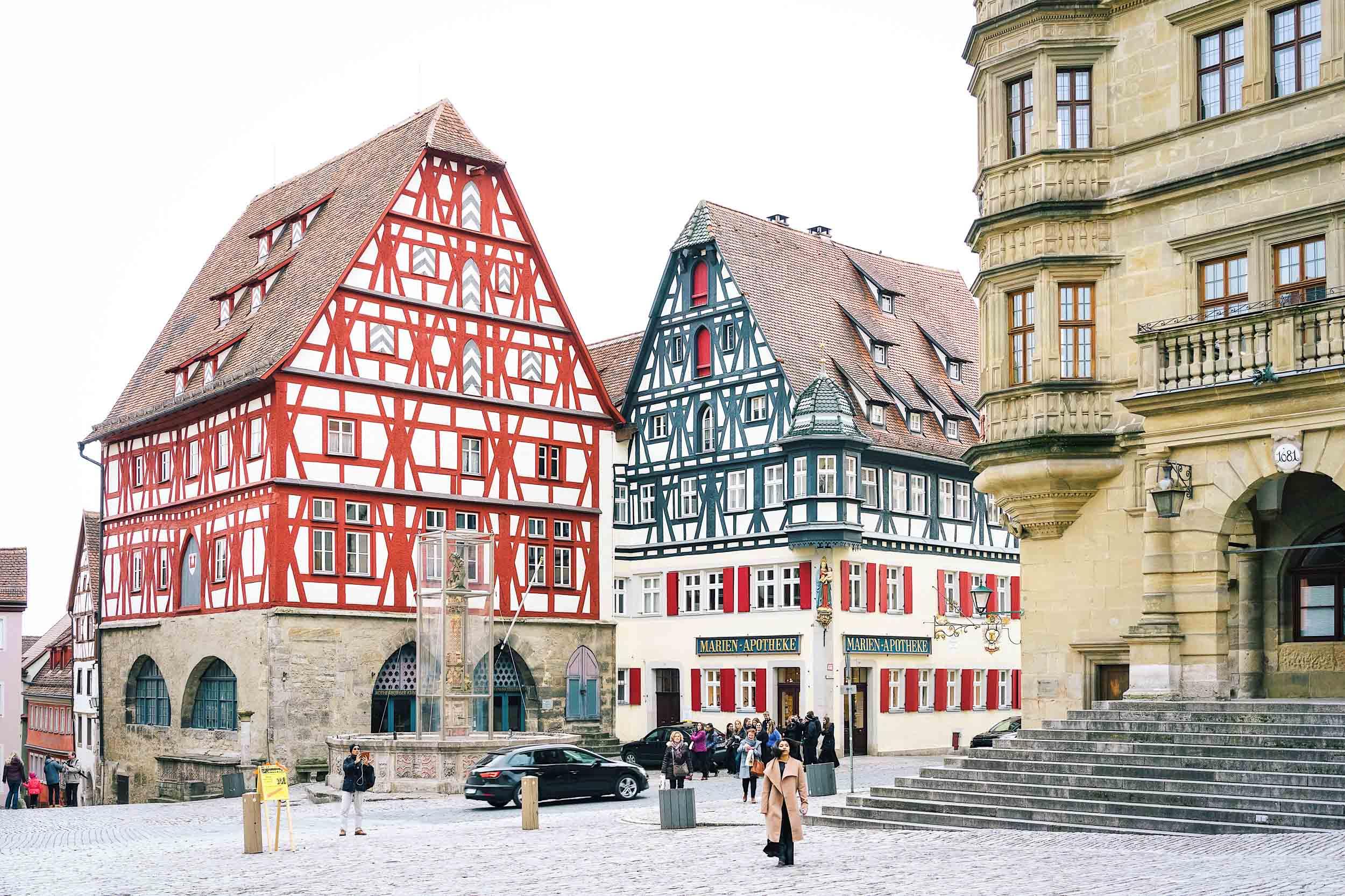 Marktplatz in Rothenburg, Germany