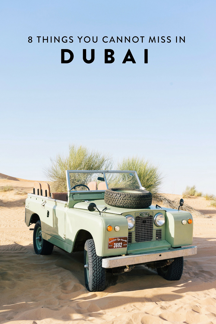 Heading to Dubai and wondering what to do? I have narrowed down my list to 8 things you absolutely cannot miss! The best non-cliche, off-the-beaten-path things to see, do, eat, and drink