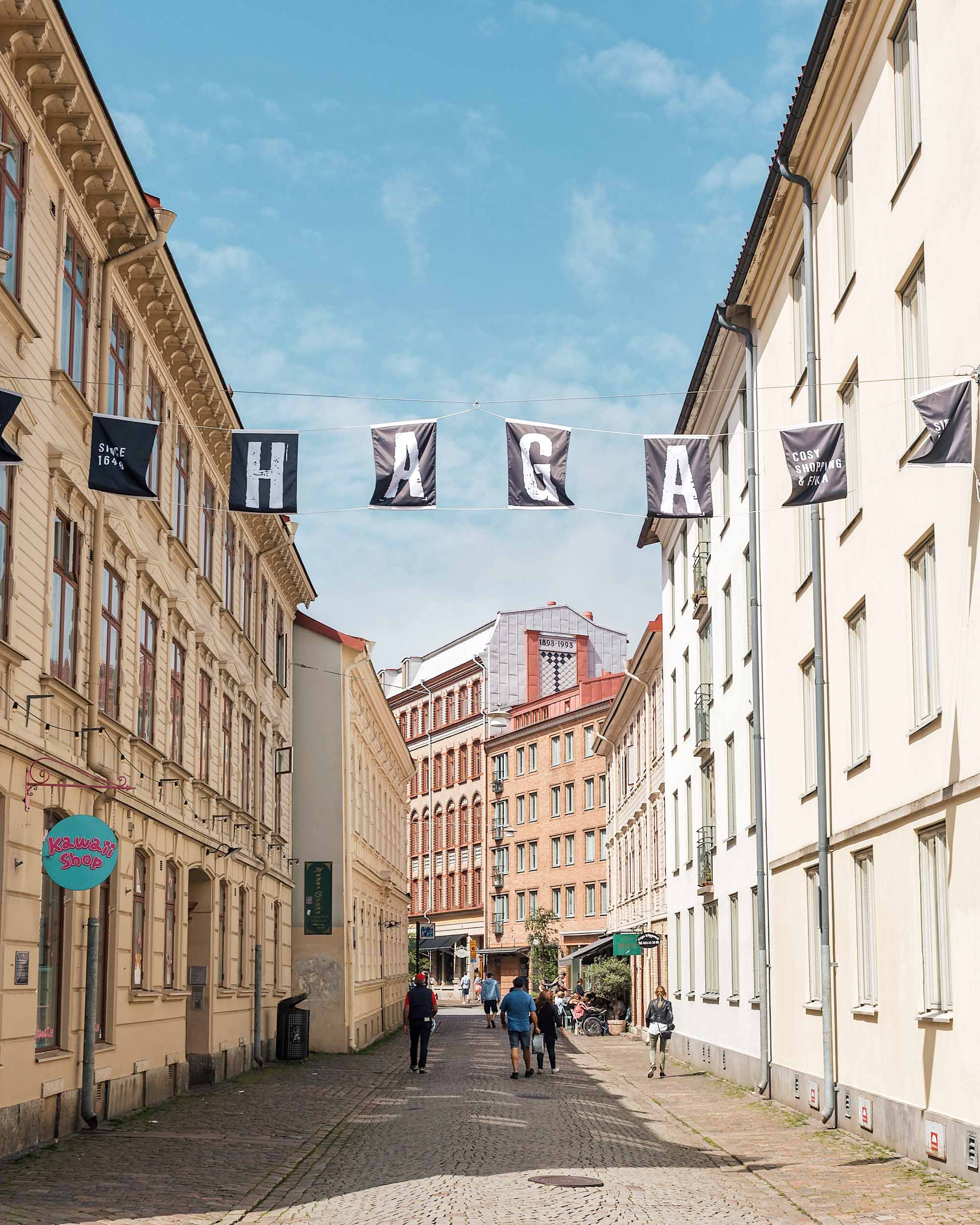 Haga is one of the oldest neighborhoods in Gothenburg, full of beautiful shops, cafes, and cobblestone streets