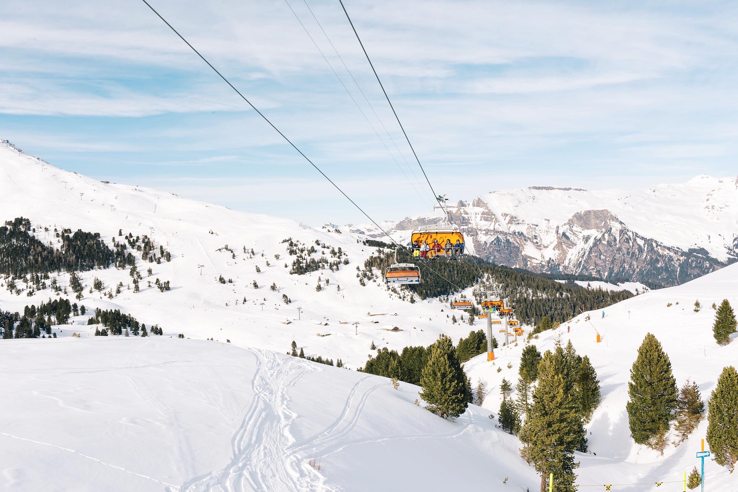 Views heading to Grindelwald via sled
