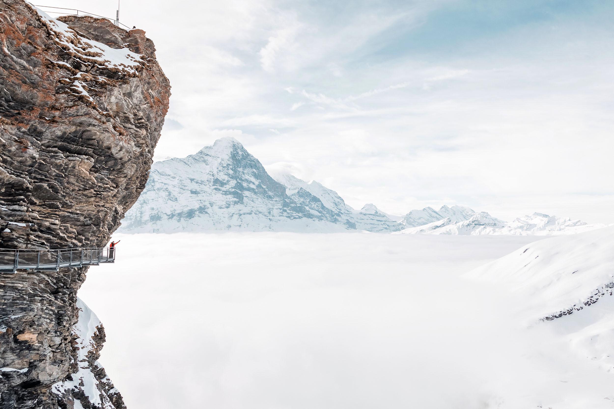 First Cliff Walk in First-Grindelwald, Switzerland