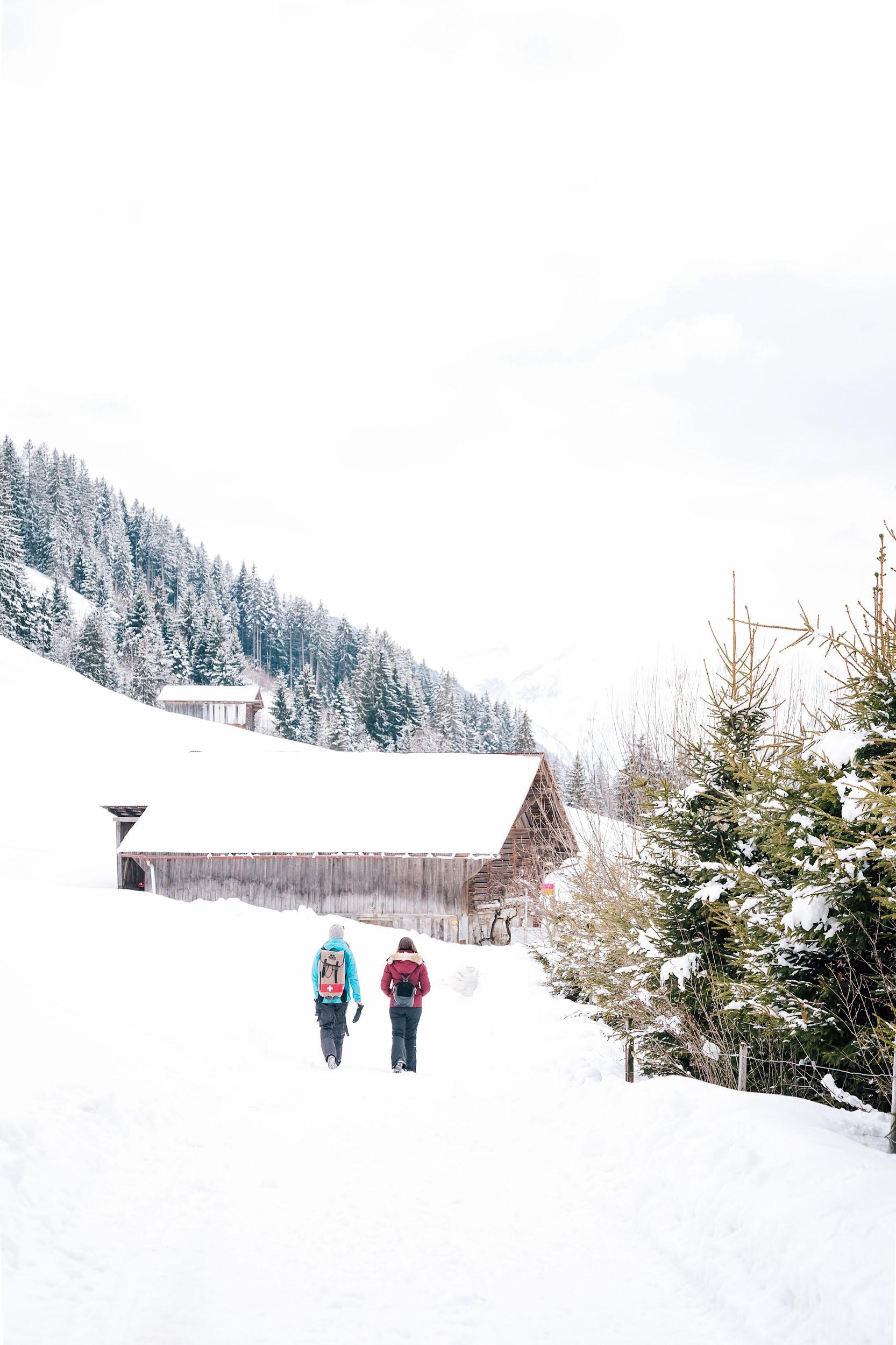 Fondue hike in Gstaad