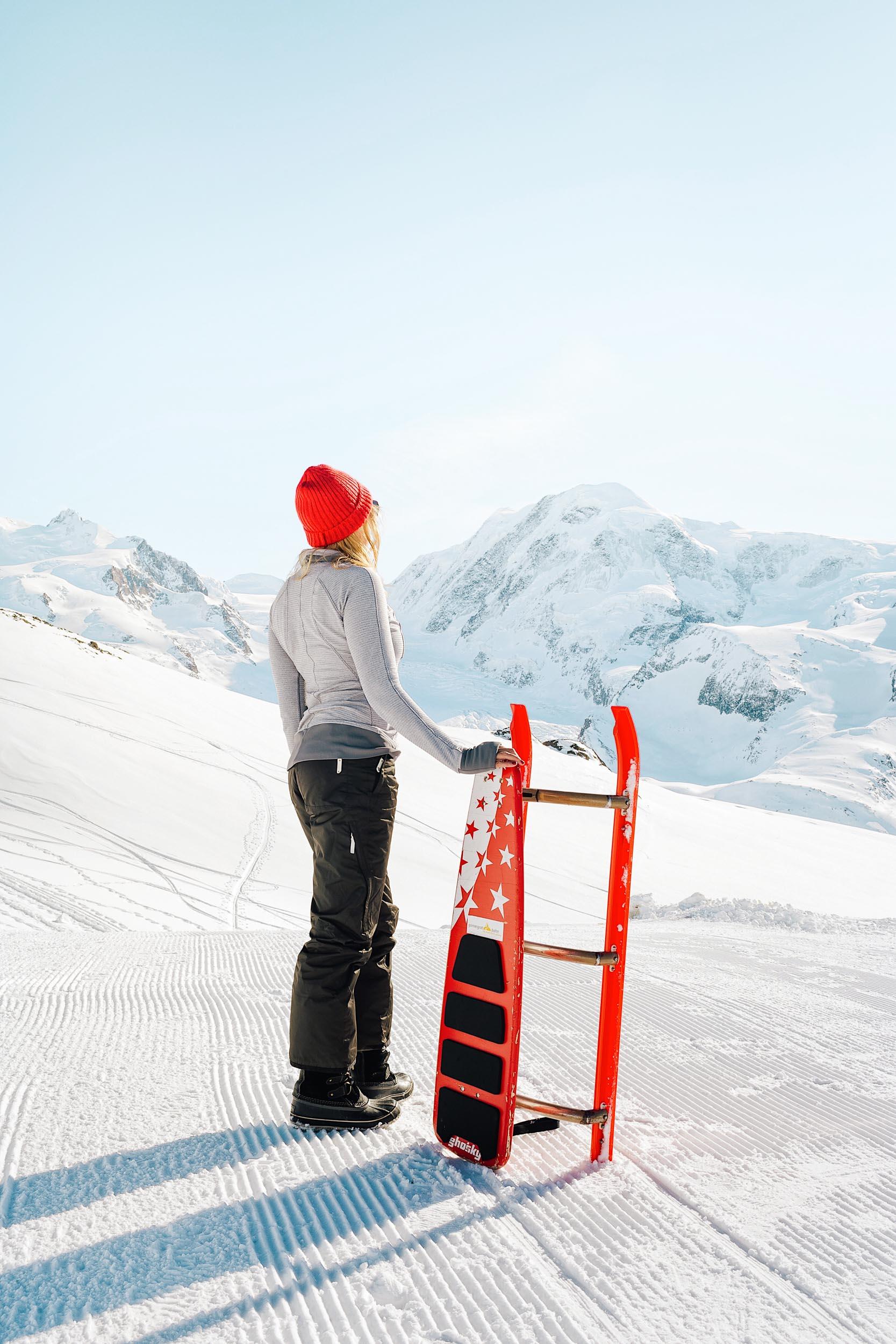 Tobogganing in Zermatt - a great winter adventure!