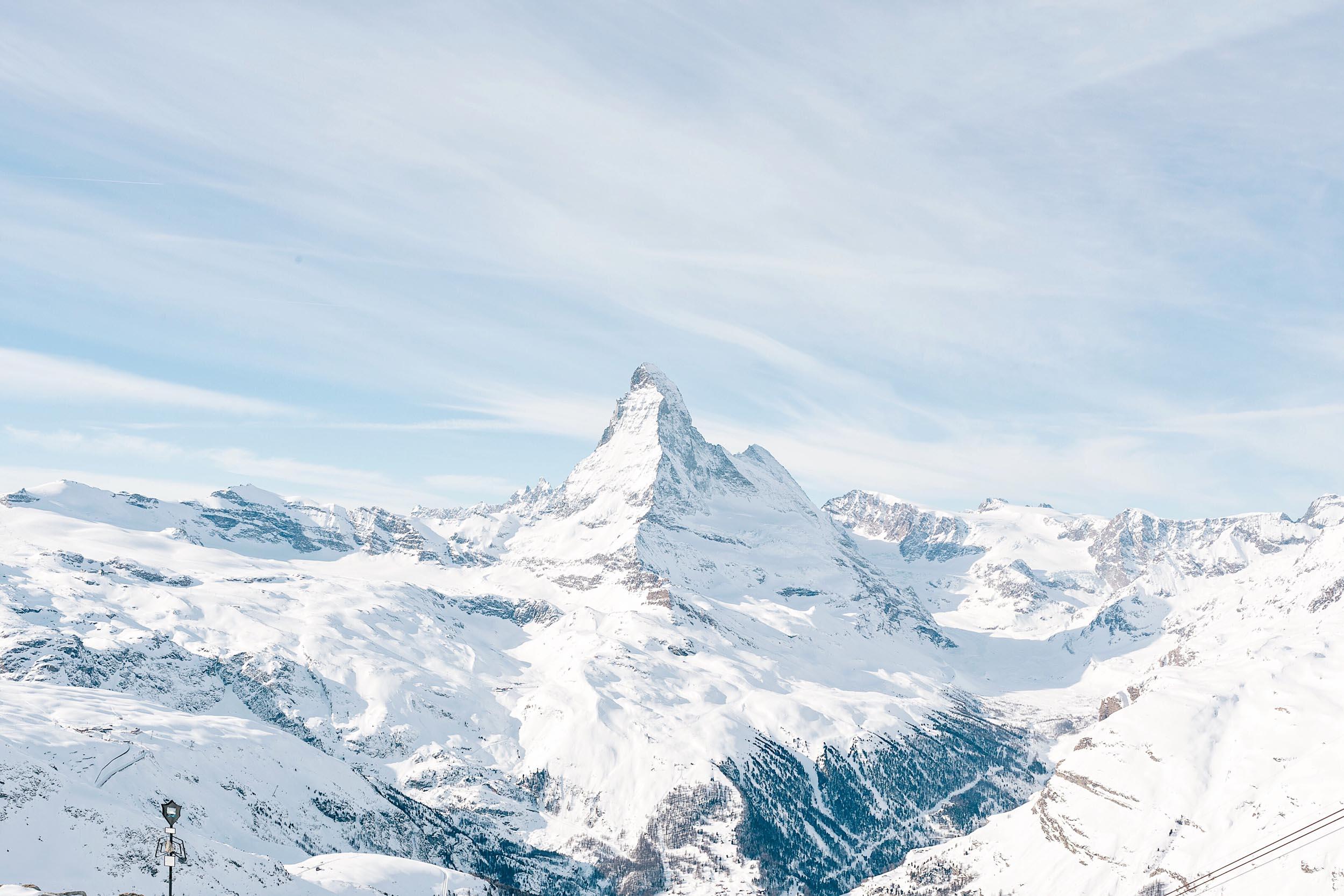 The famous Matterhorn of Zermatt