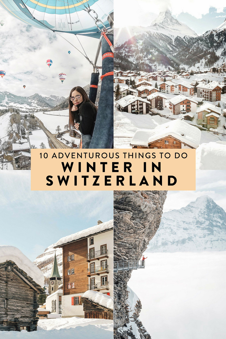 Switzerland is full of countless unique winter adventures, ten of which I highly recommend doing! Including a hot air balloon ride, dog sledding, some cliff walks, and more.