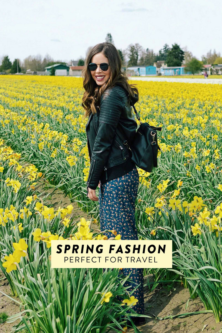 Spring fashion perfect for travel! Pieces that are both cute and functional. #fashion #travelfashion #spring