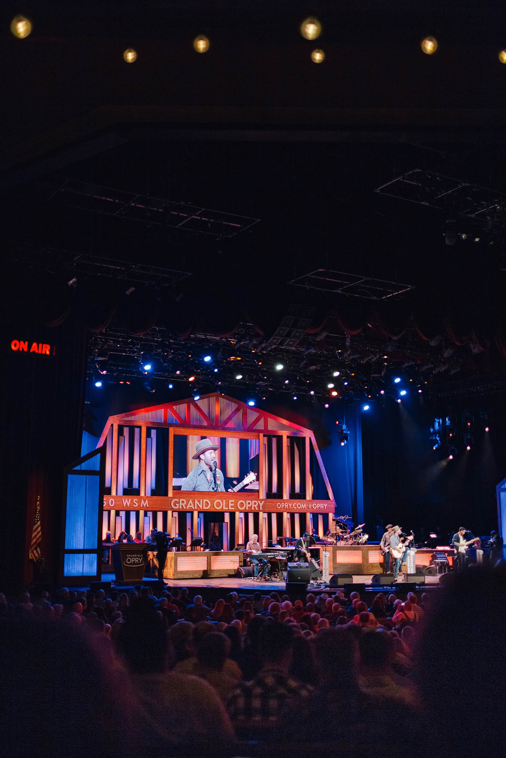 Drake White performing at the Grand Ole Opry