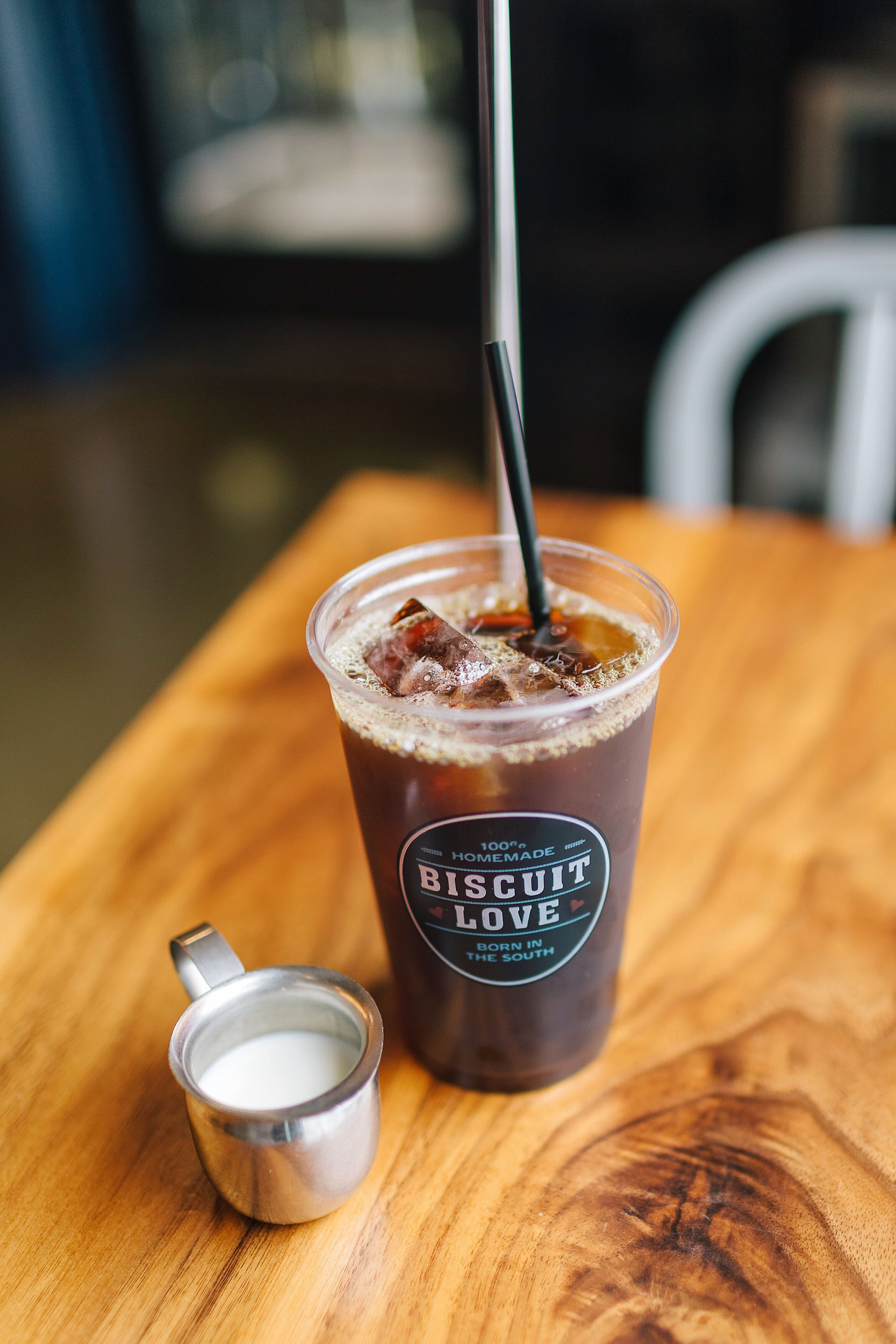 Iced coffee at Biscuit Love in Nashville