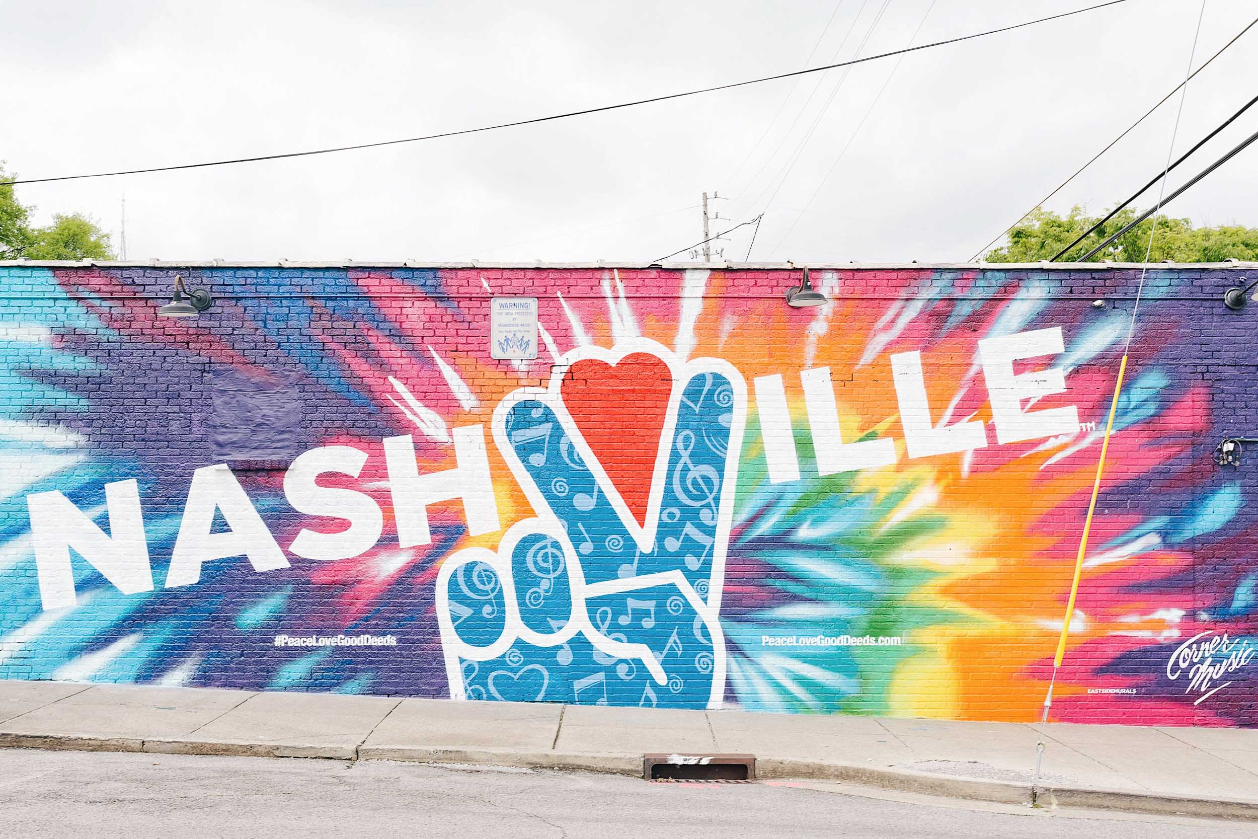 A colorful Nashville mural