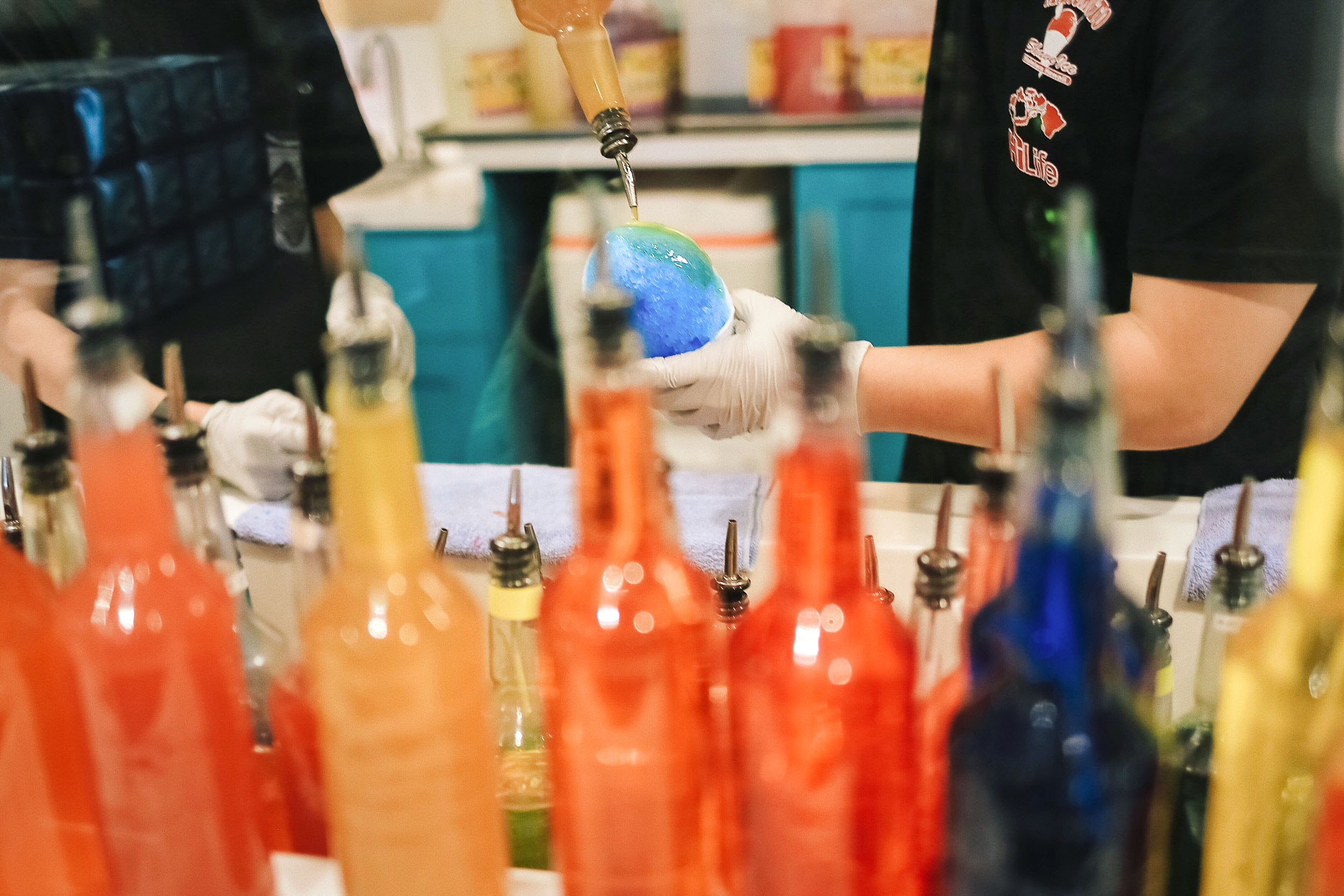 Flavored shave ice syrups