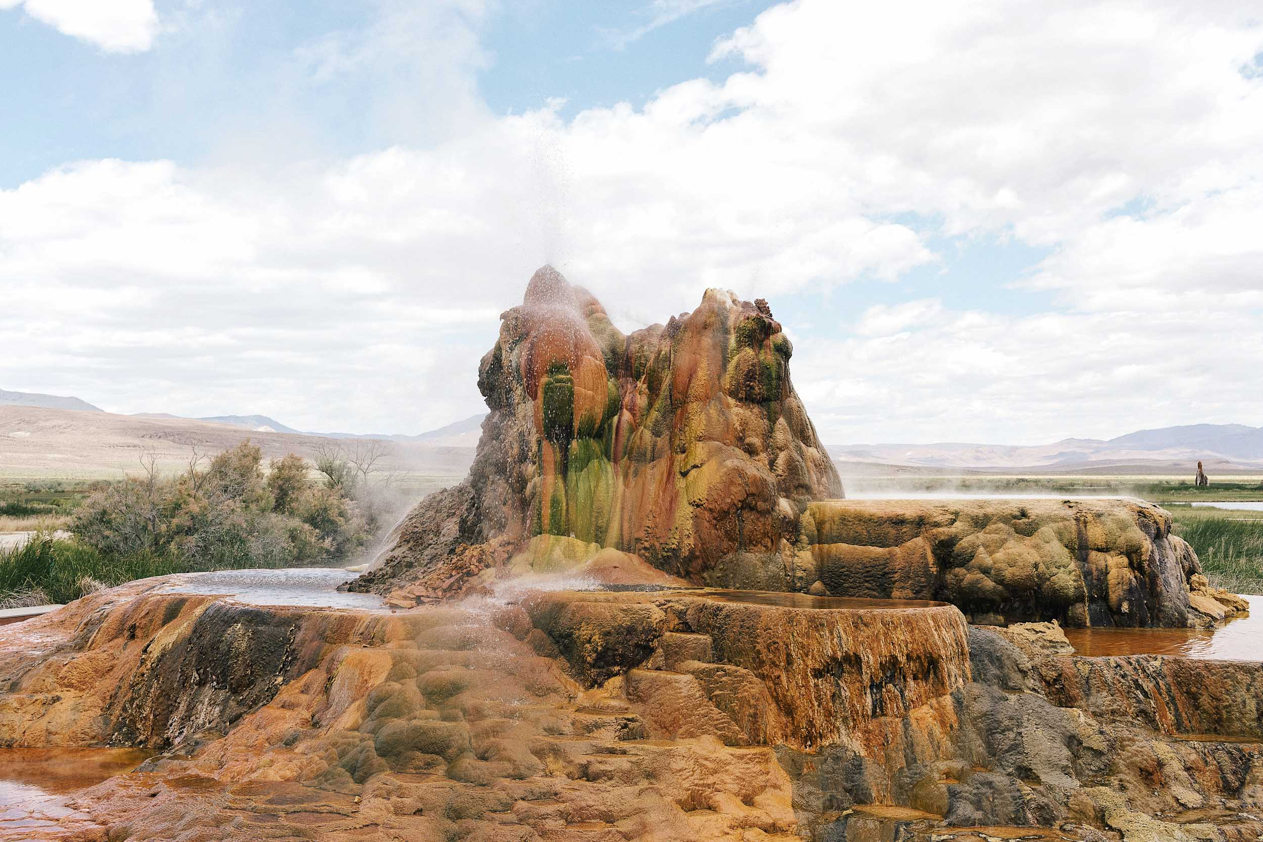 Fly Geyser - the most amazing natural wonder in Nevada