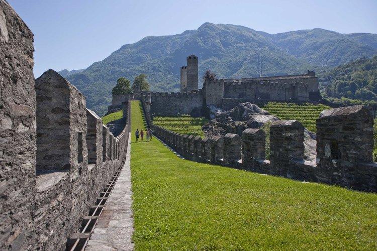 Visit of the Castelgrande, UNESCO World Heritage. Copyright by Ticino Turismo