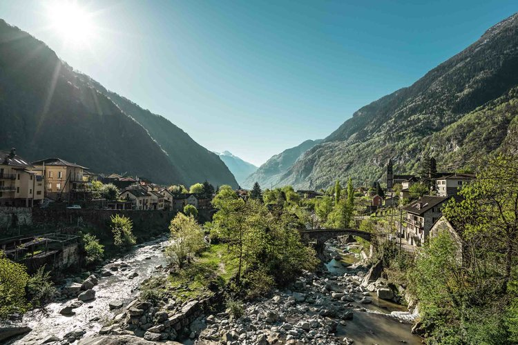 Springe awakening in Giornico, Ticino. The village is surrounded by vineyards and chestnut woods. The old village center consists mainly of stone houses. Copyright by: Switzerland Tourism