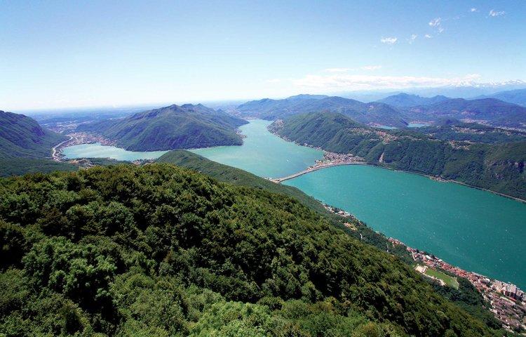 View on Mount San Giorgio, UNESCO World Heritage site. Copyright by Ticino Turismo