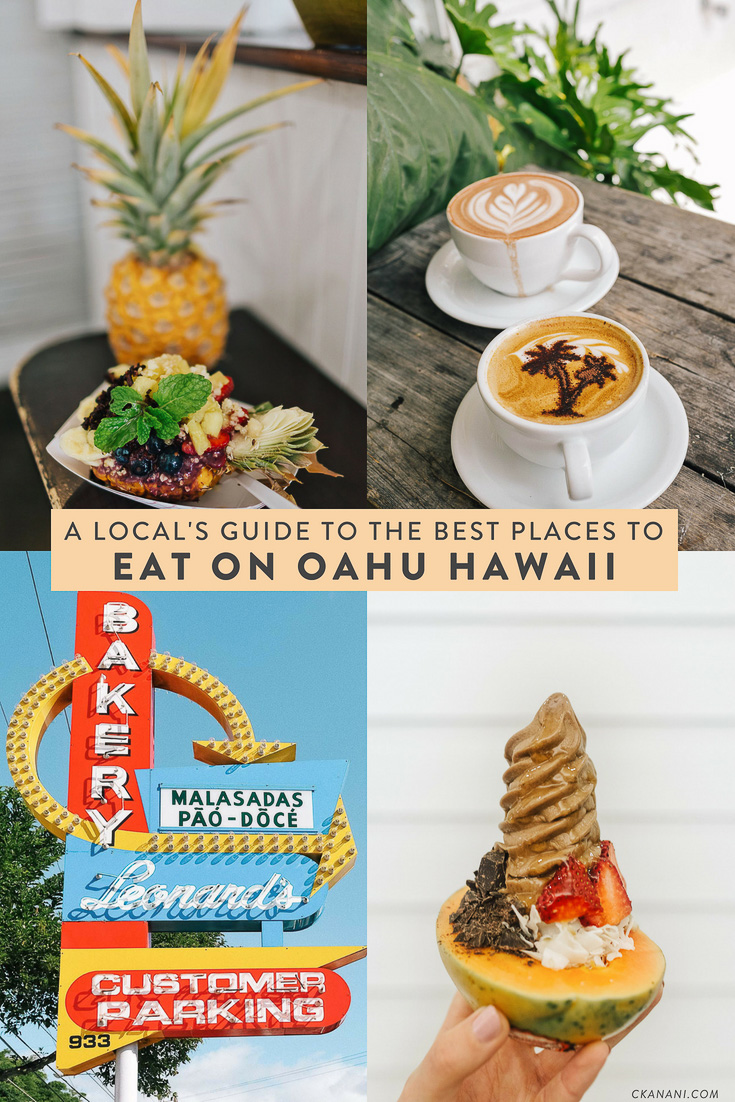 A local's guide to the best places to eat on Oahu, Hawaii. The best malasadas, shave ice, views, and more in Honolulu/Waikiki, the North Shore, Kailua, and Kaneohe! #oahu #hawaii