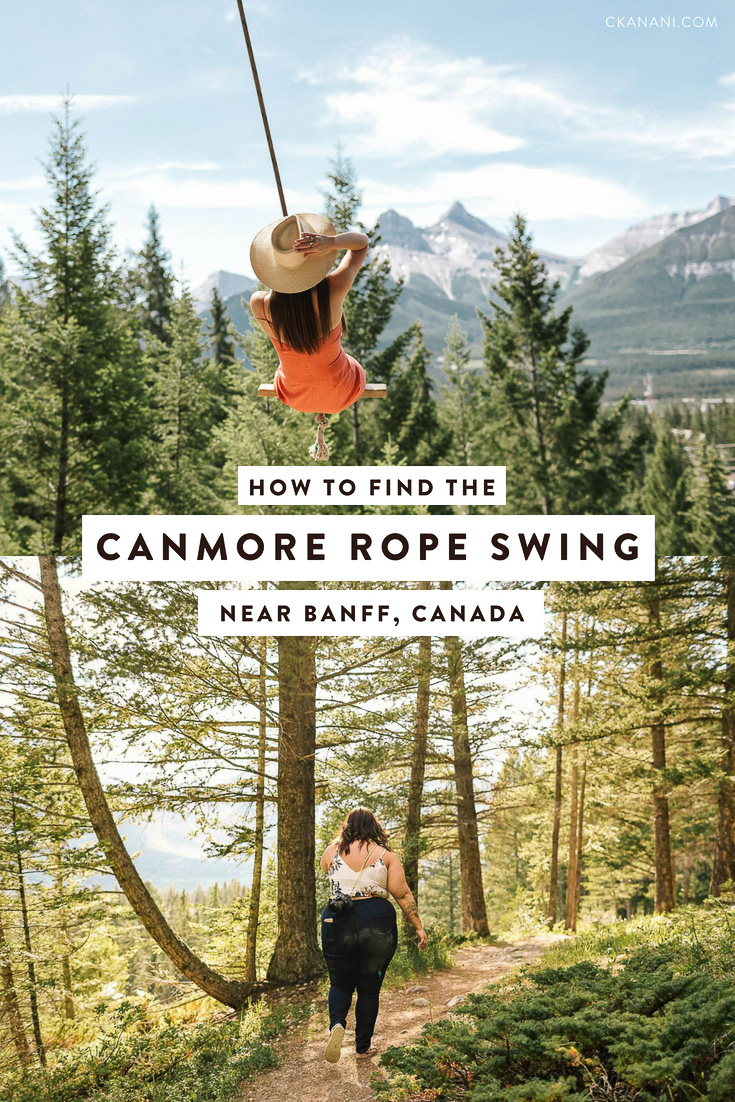 A guide to finding the Canmore rope swing near Banff National Park in Alberta, Canada. Directions as well as what to wear, how long it takes, and how to get the best photos. #banff #alberta #canada