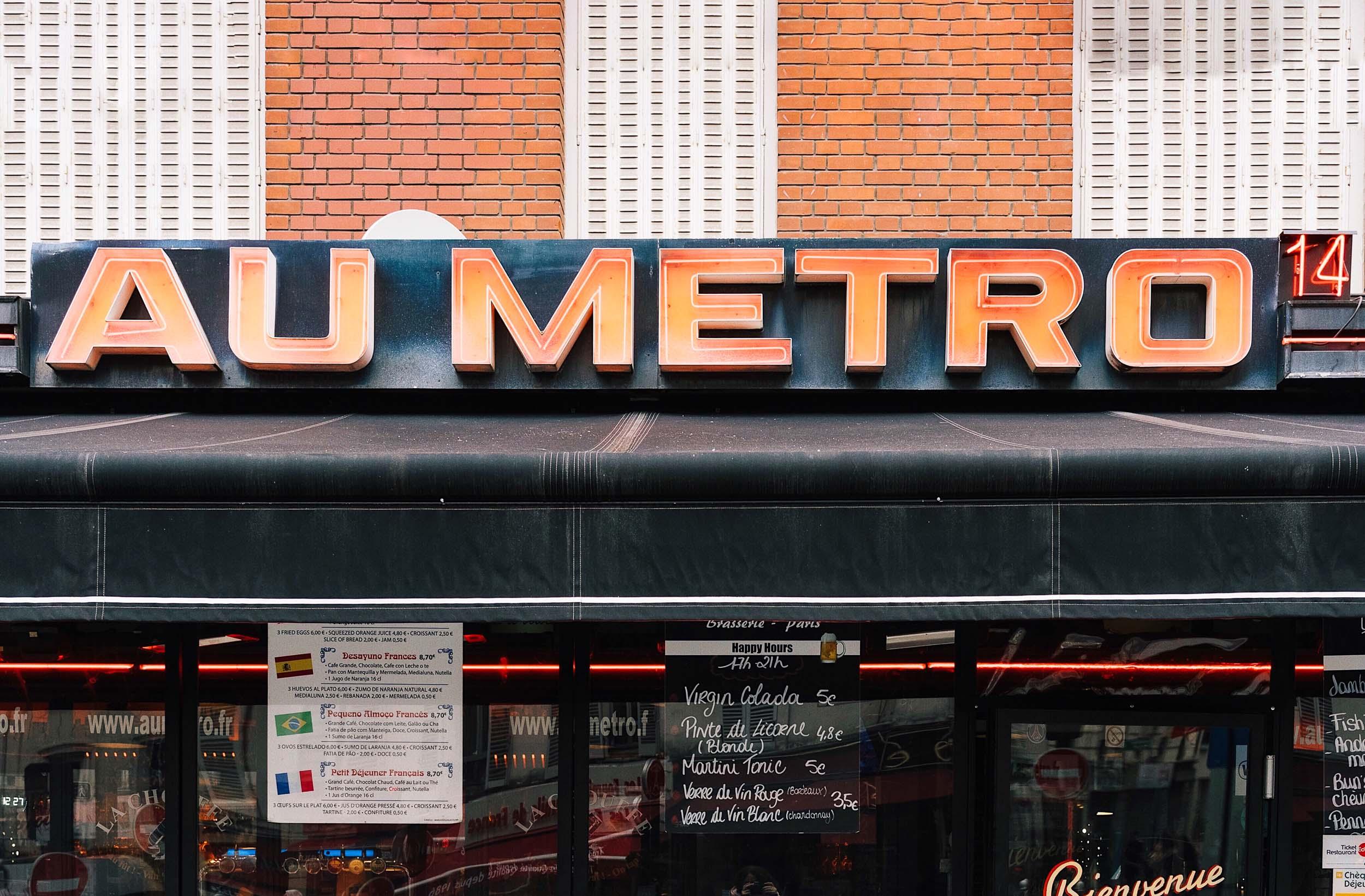 The Metro in Paris is the best way to get around!