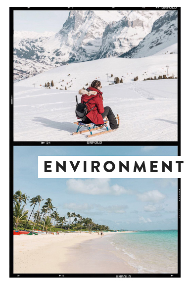 Le Club AccorHotels Seeker Profile experience discoverer has three stages, the second is environment