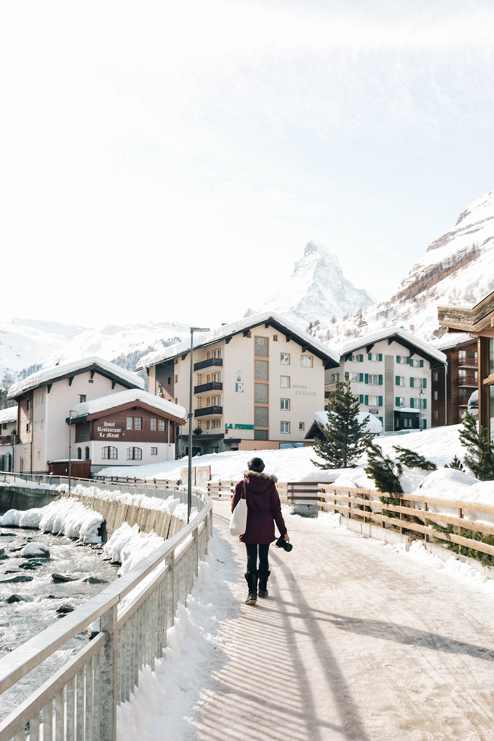 Zermatt is a charming mountain resort town in Switzerland, most widely known for it's skiing, climbing and hiking as well as for it's iconic views of the famous Matterhorn.