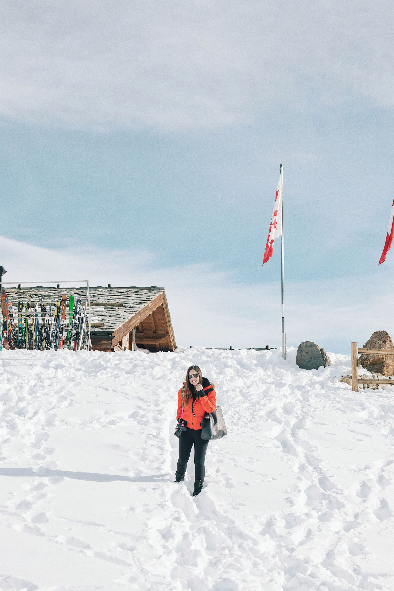 A beautiful and sunny winter day in Zermatt, Switzerland