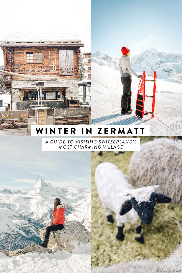 Winter in Zermatt: everything you need to know about visiting Switzerland's most charming village including where to stay, eat, drink, and what to do. #zermatt #switzerland #travel