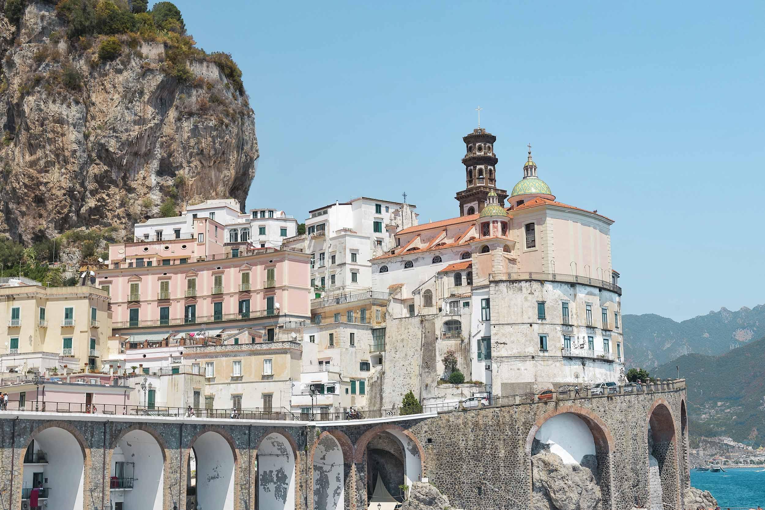 The town of Atrani on the Amalfi Coast