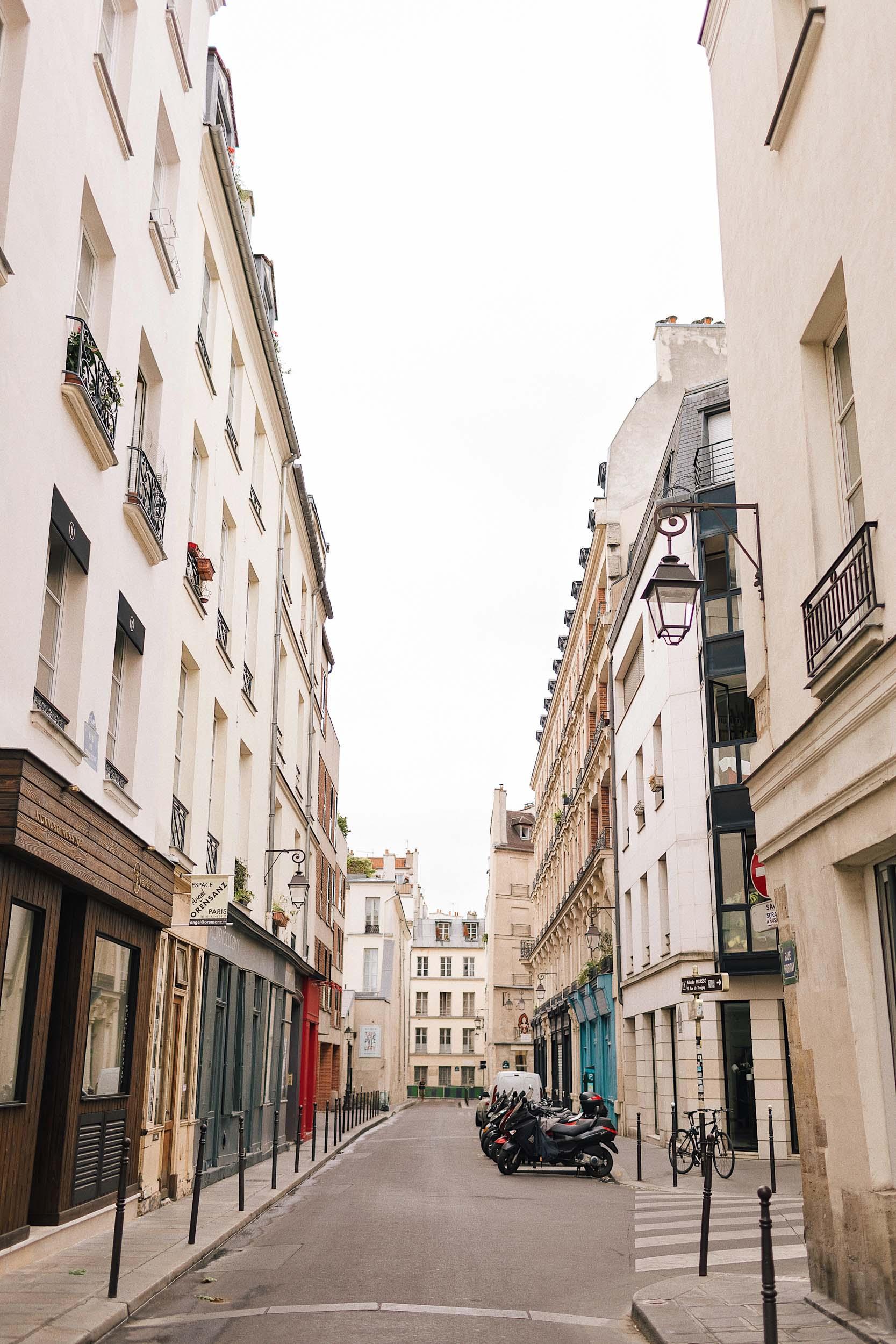 A pretty street in Paris
