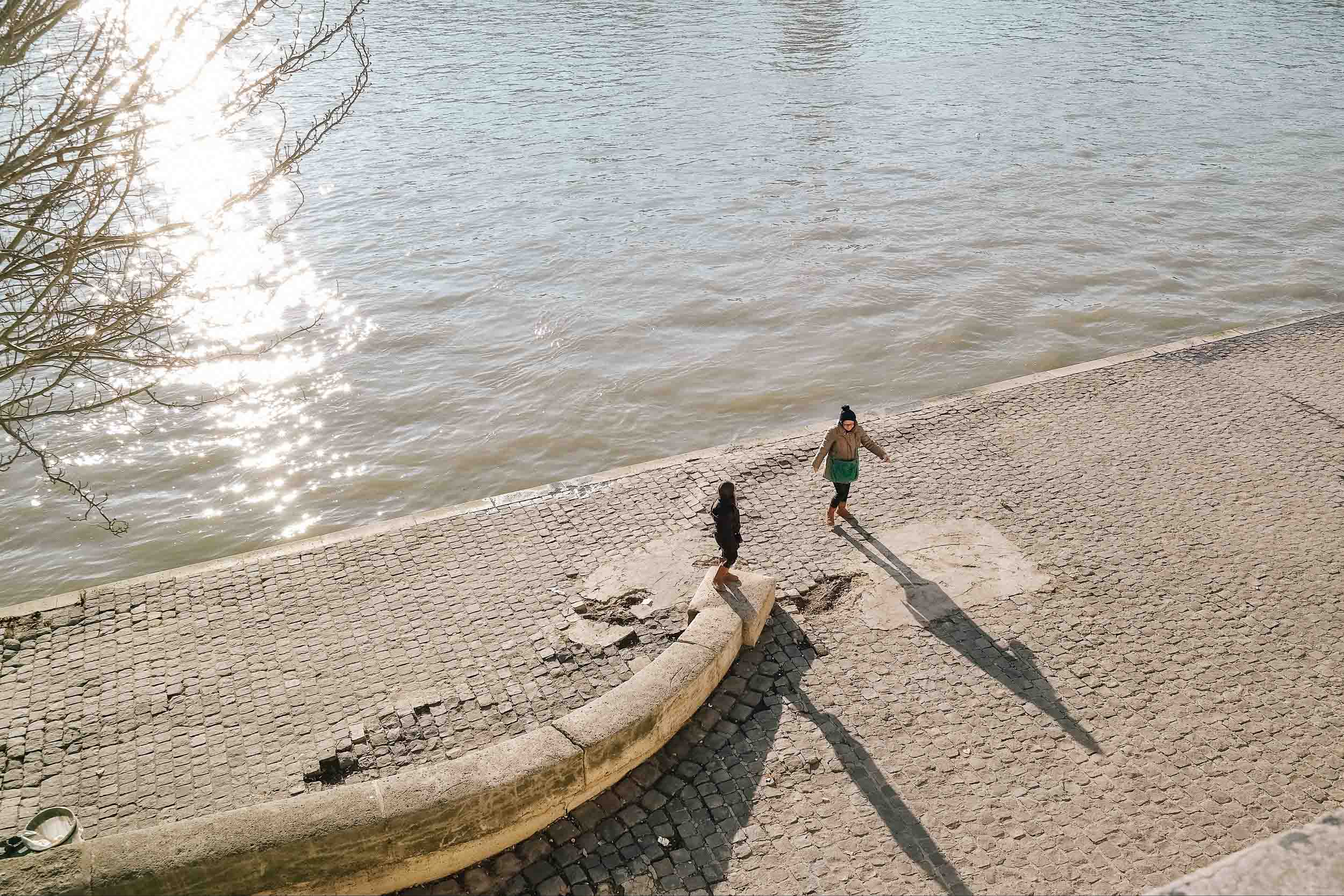Winter in Paris on the Seine
