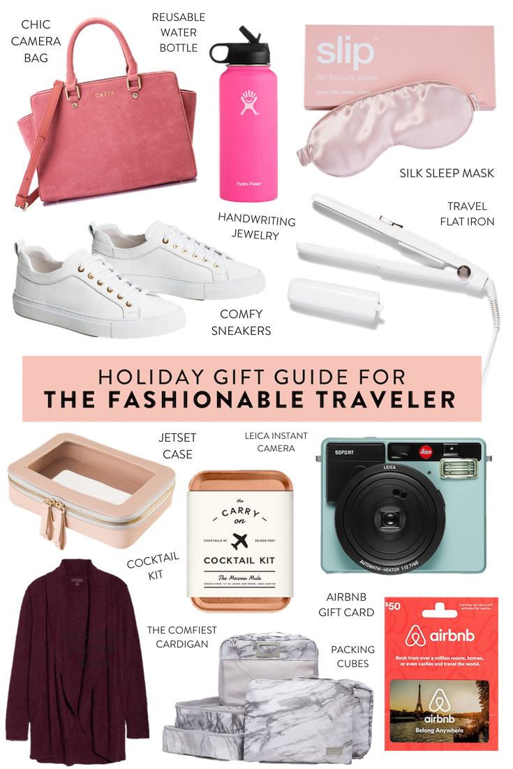 Looking for the perfect gift for someone who loves to travel? These are the absolute best travel gift ideas, including a chic camera bag, carry on accessories, and more! #travel #giftguide #giftideas