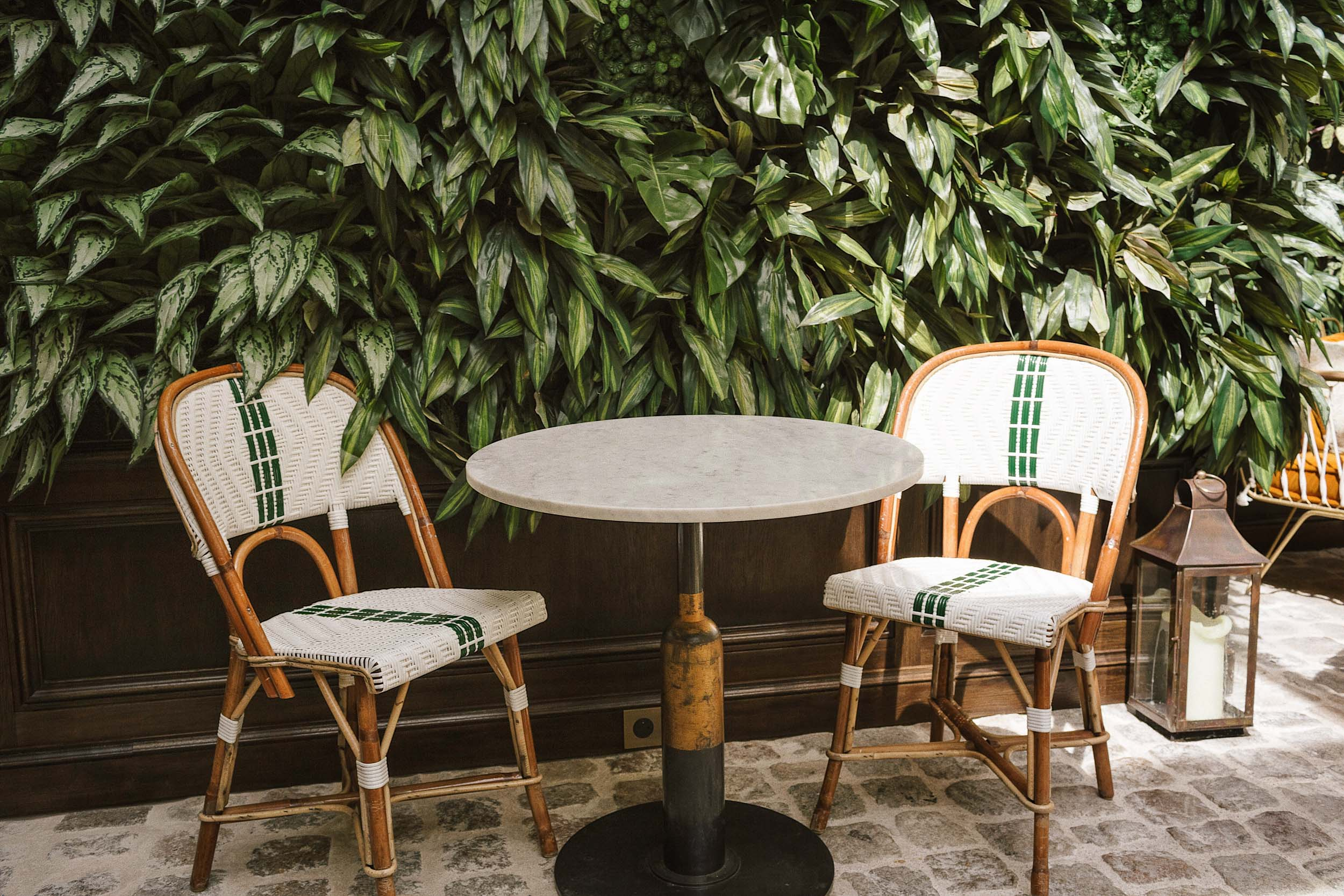 A charming place to sit at The Hoxton Paris