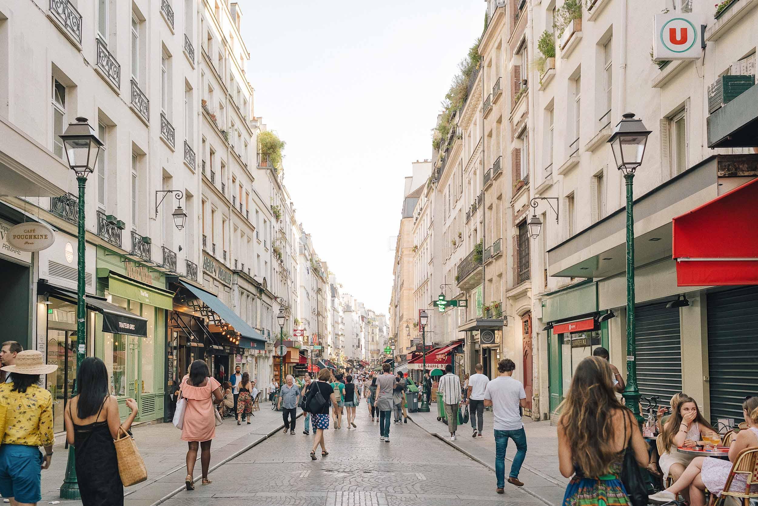 Rue Montorgeuil in Paris, a market street worth walking around