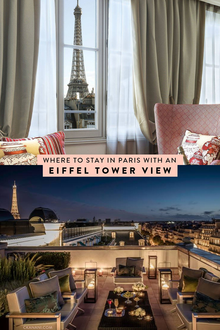 The best hotels and Airbnbs in Paris with Eiffel Tower views at all price points! Including Eiffel Tower balcony views. #paris #eiffeltower #luxuryhotels