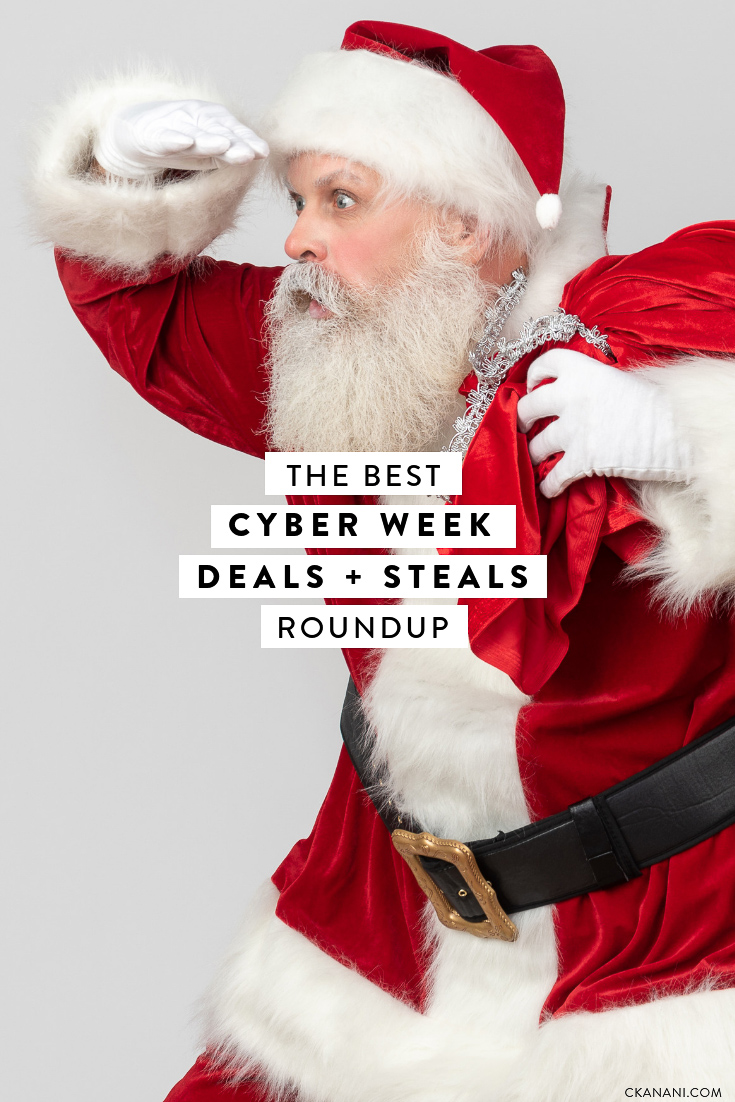 The best cyber week deals and steals in travel, fashion, home, beauty, makeup, and more. #giftguide #cyberweek #blackfriday
