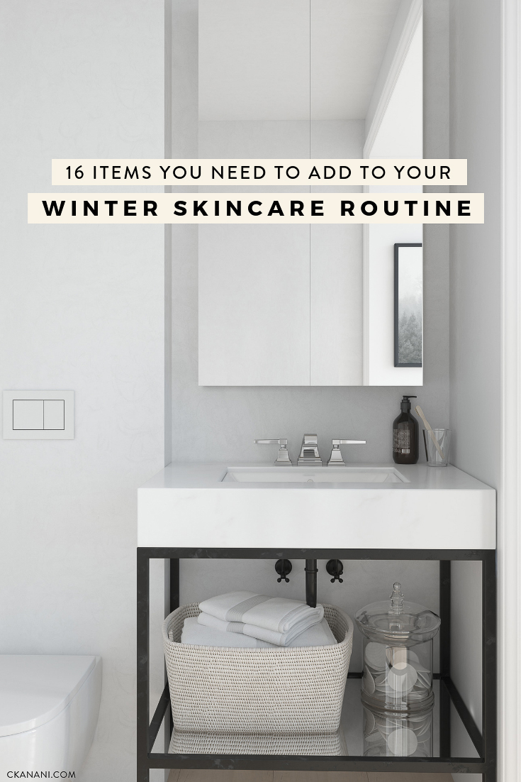 16 items you must add to your winter skincare routine to combat dry, dehydrated skin issues! The best face oil, serum, eye cream, masks, exfoliants, body lotion, and more. #skincare #winter #beauty