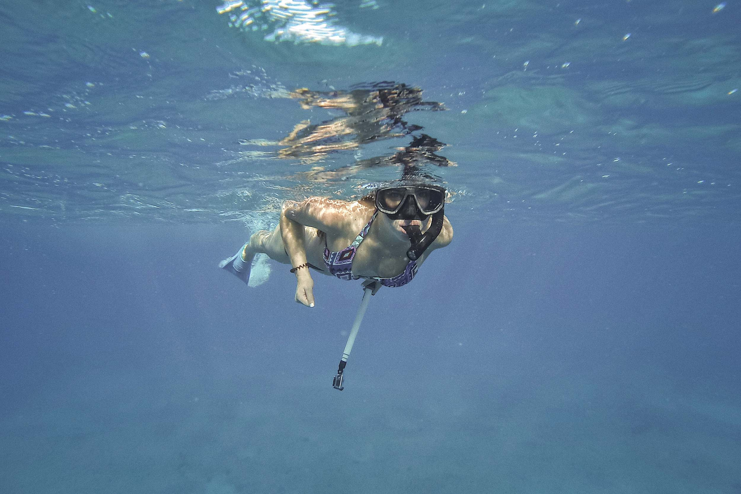 Snorkeling in Hawaii, looking for dolphins!