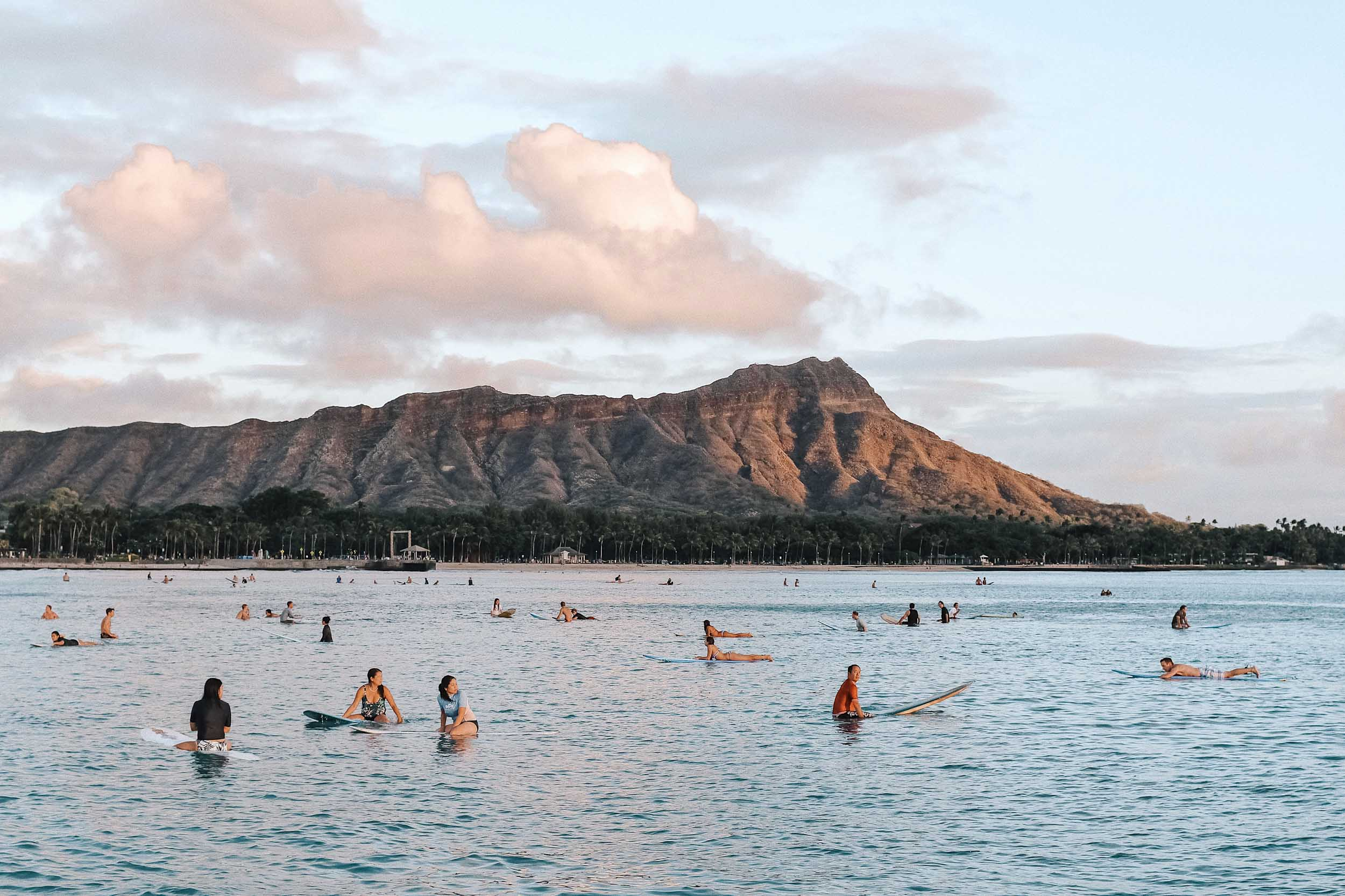 Pictures of Diamond Head are best from Waikiki