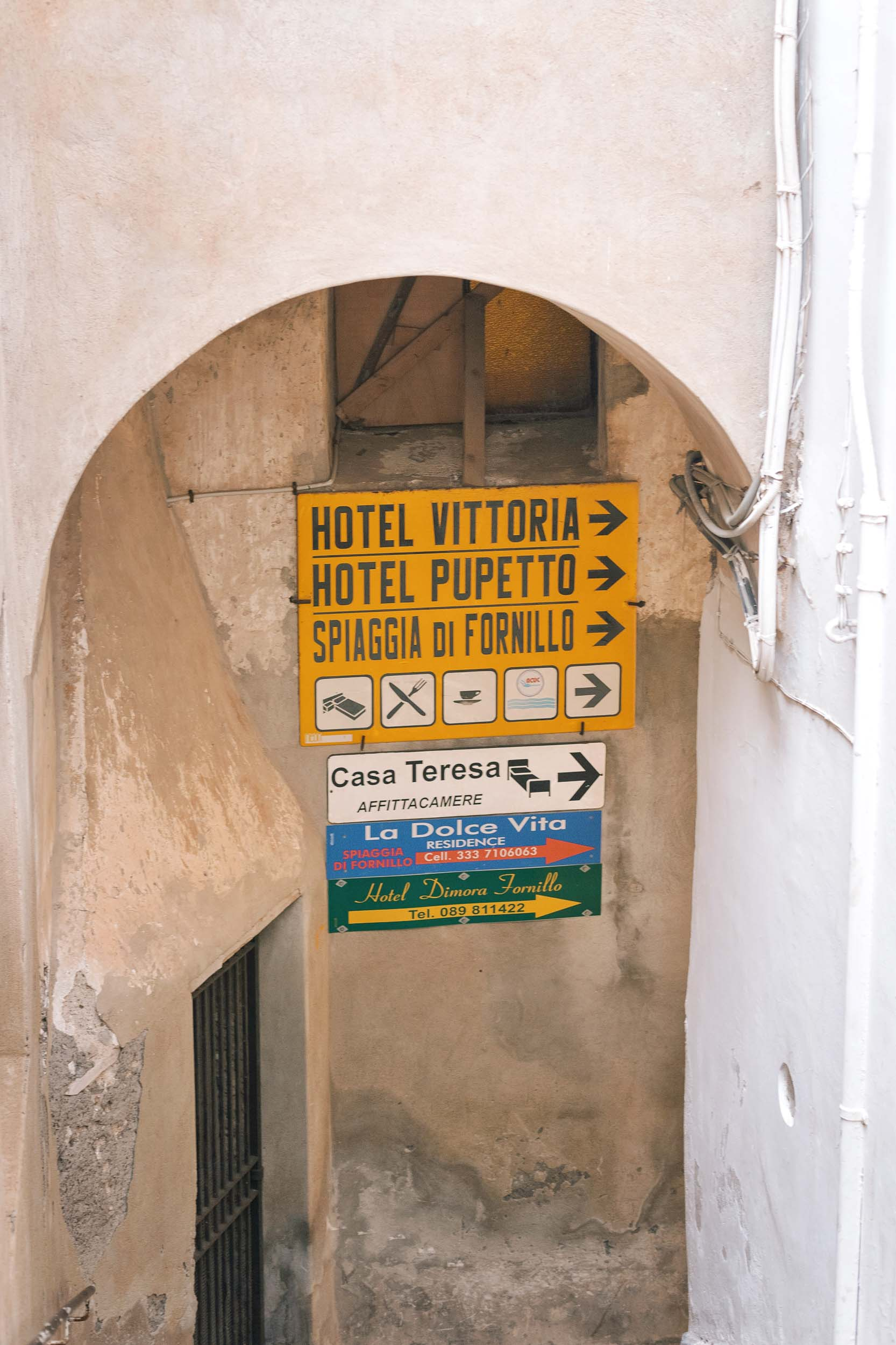 The walk to Spaggia di Fornillo, the beach in Positano that the locals go to